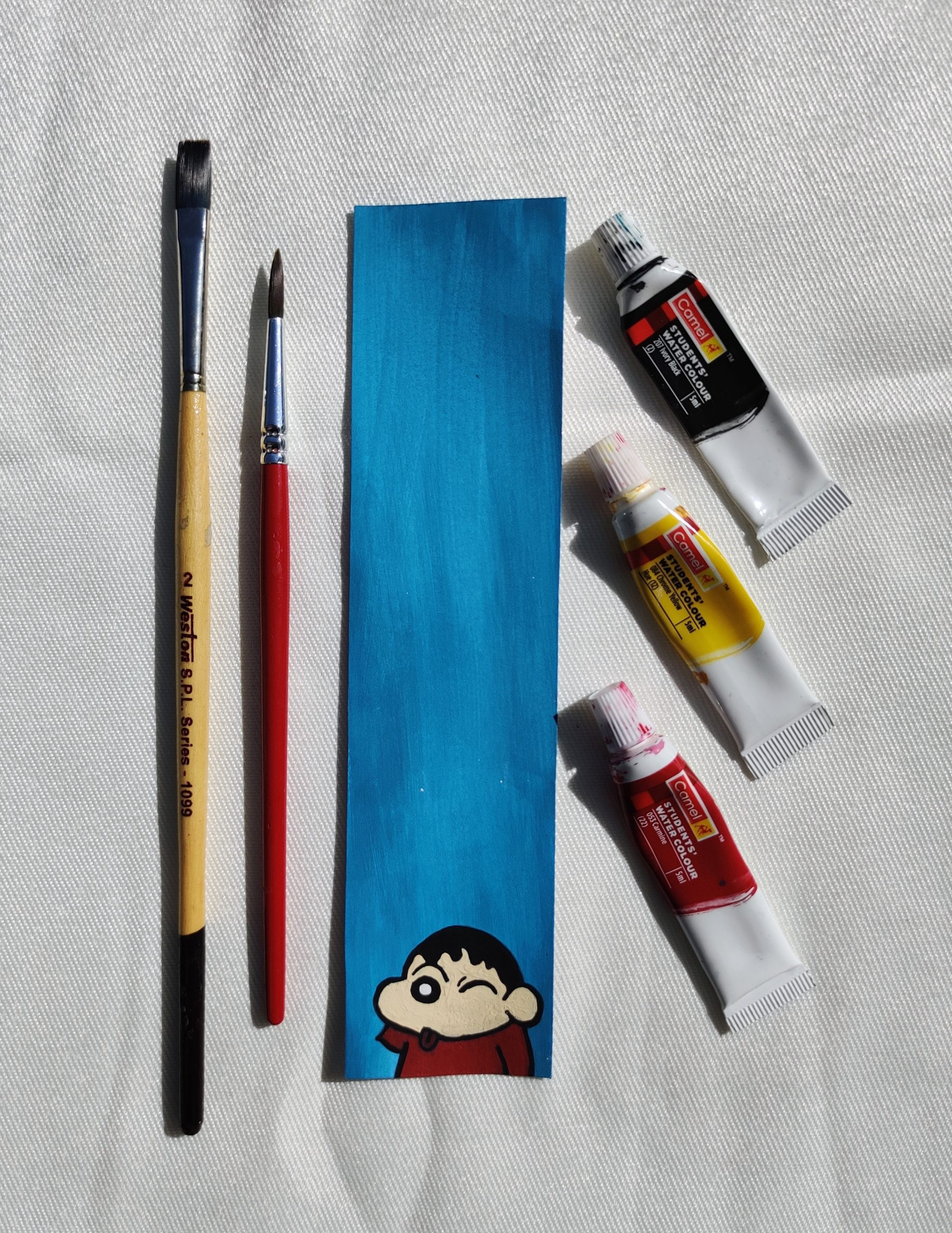 Water colour and brush
