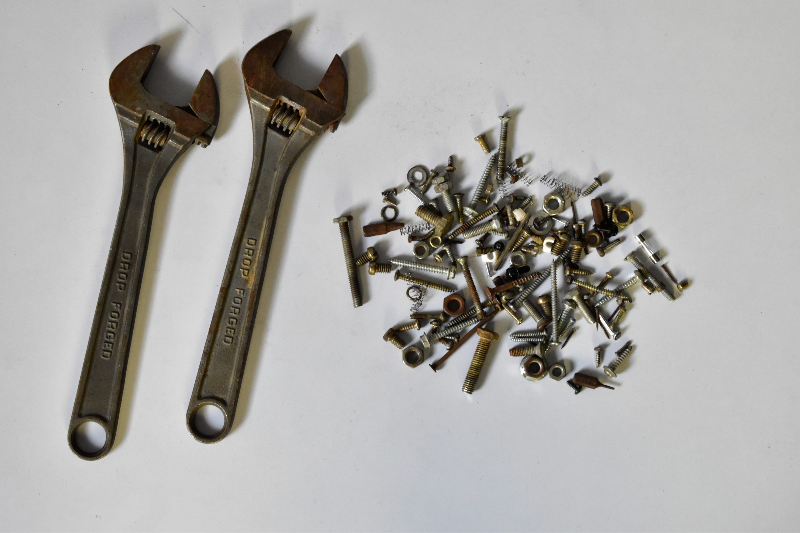 Wrench, nuts and screws