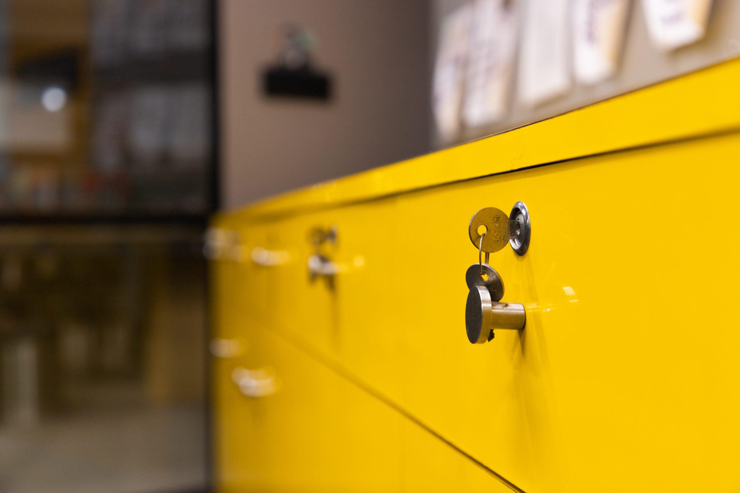 Yellow drawer