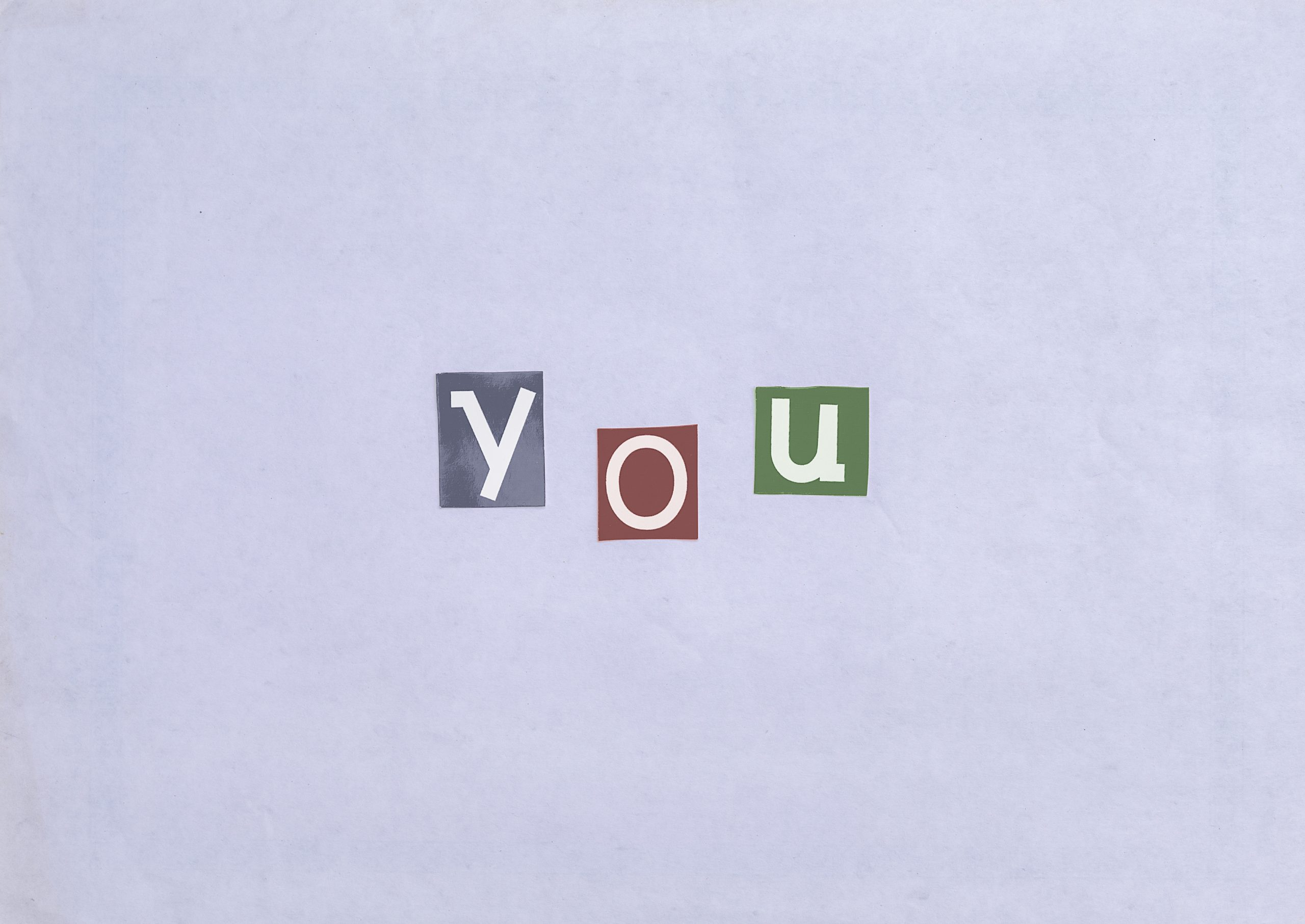 You word written with stickers