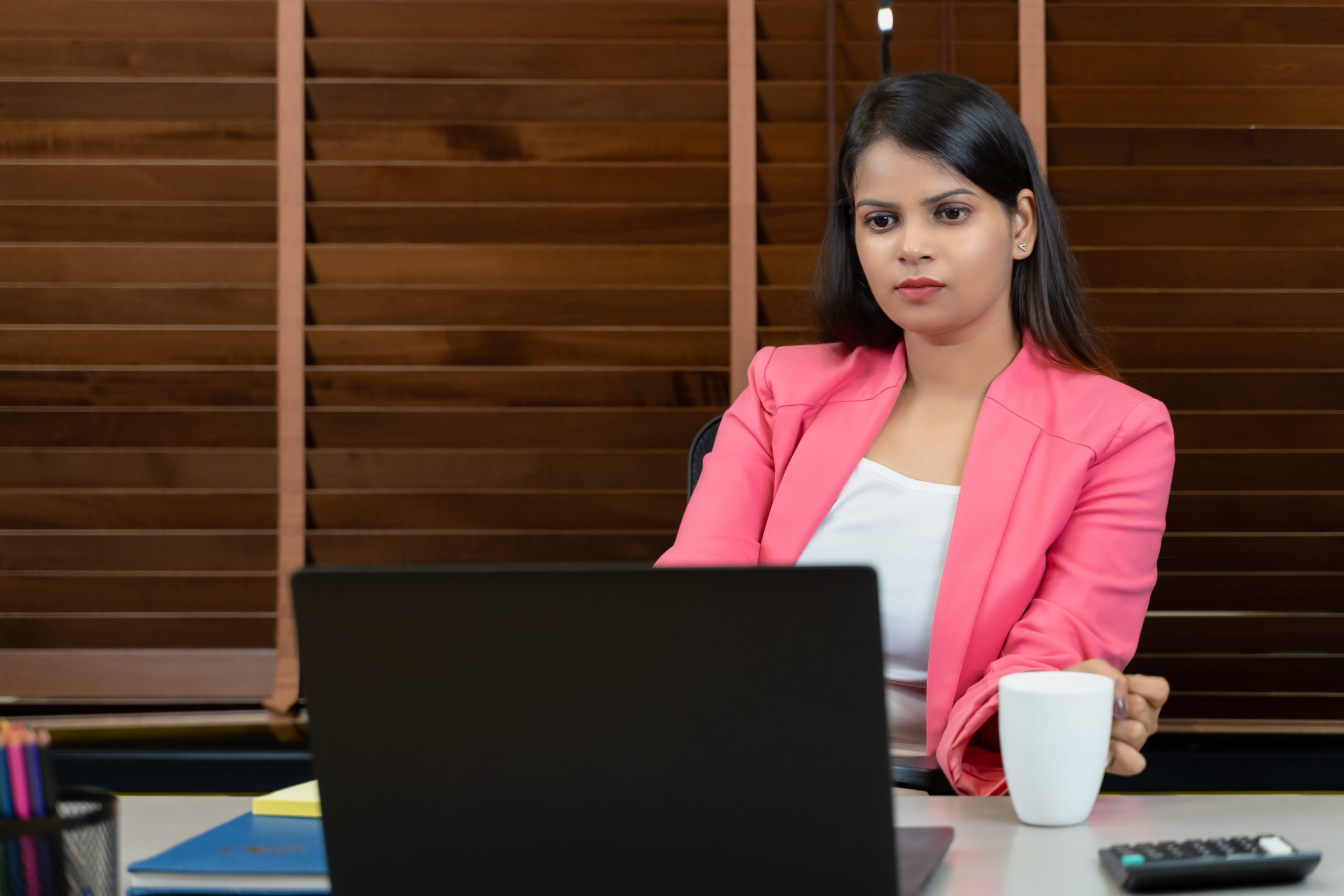 Young professional working in office