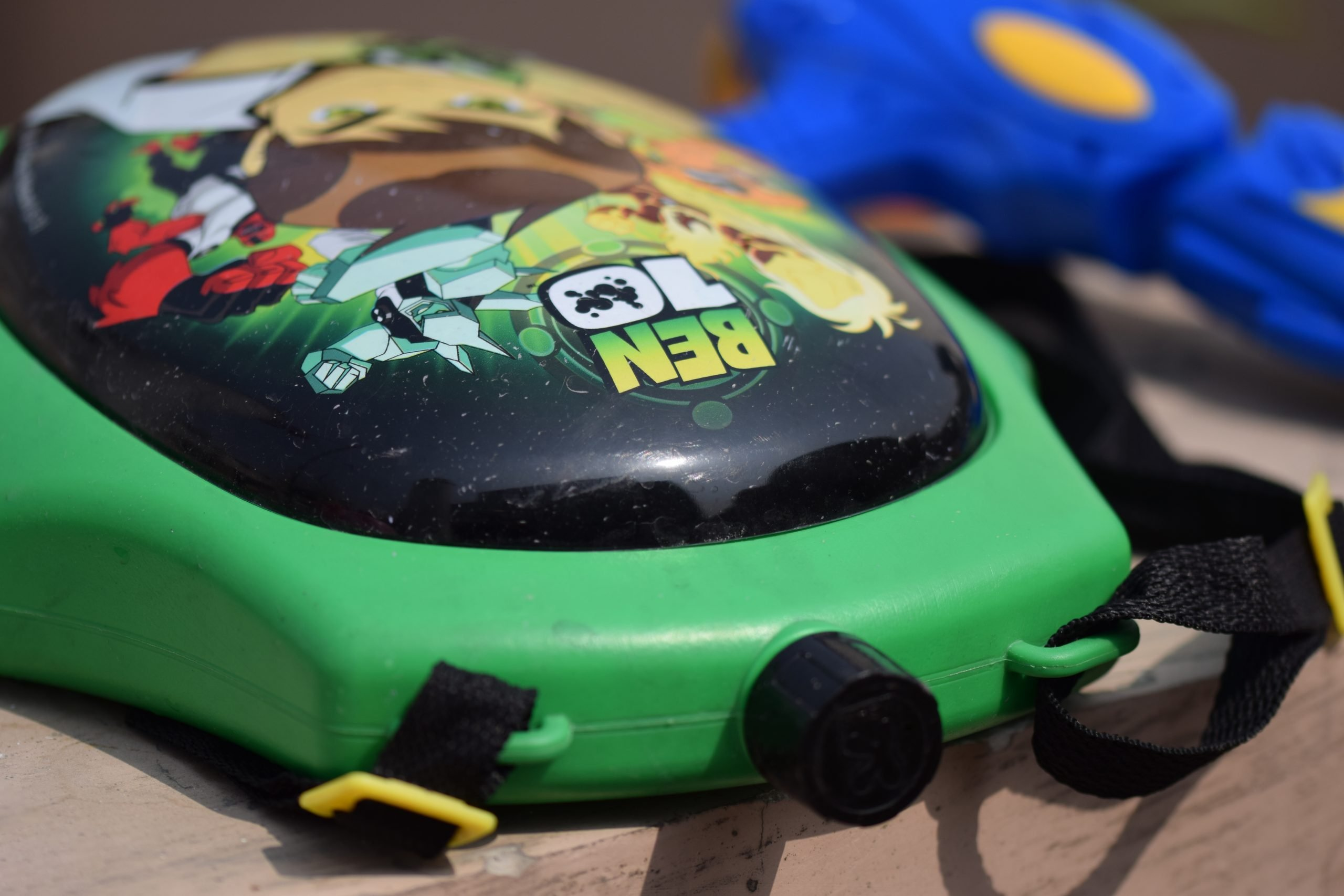 A Ben 10 water gun bottle.