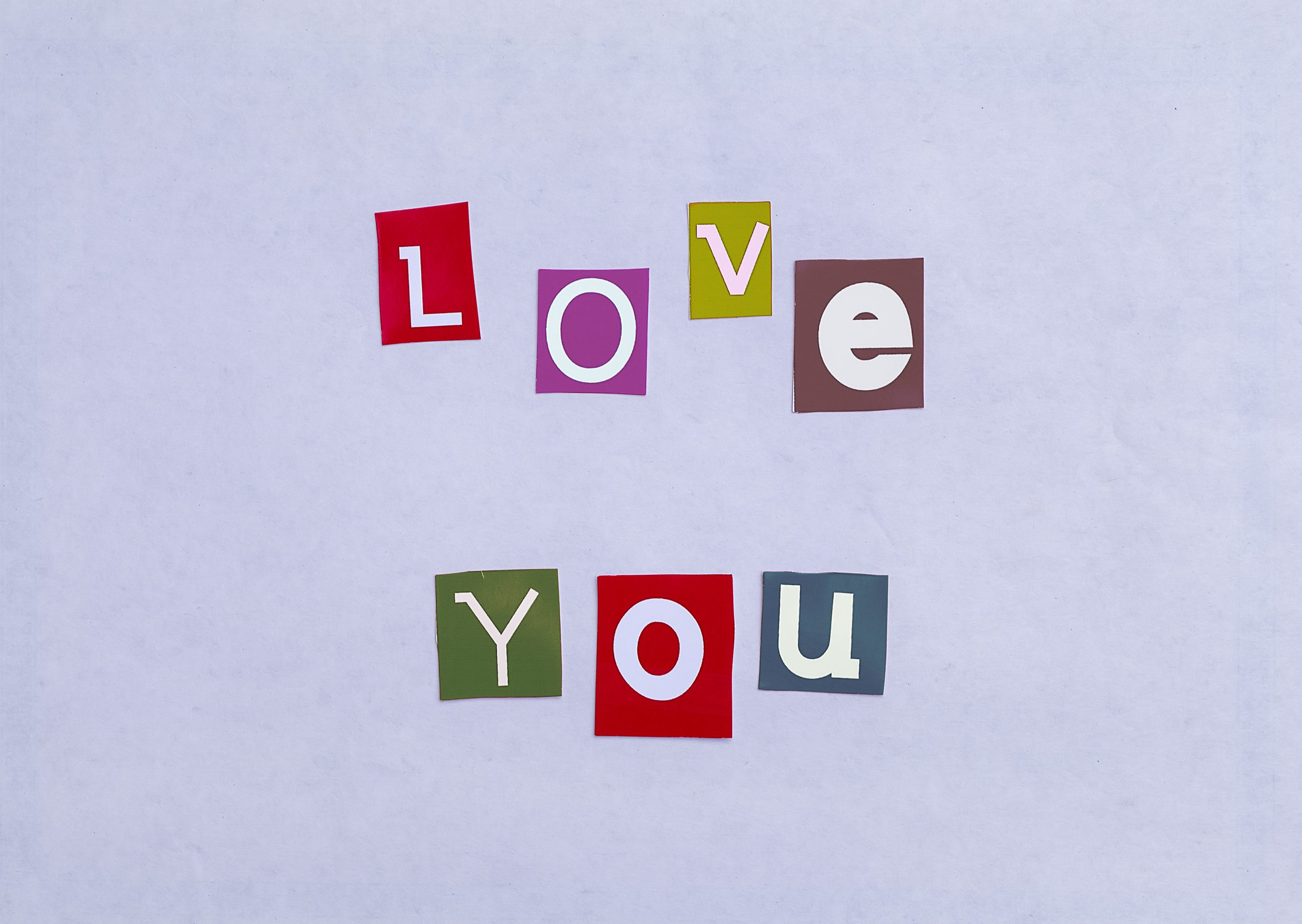 Love you written with stickers