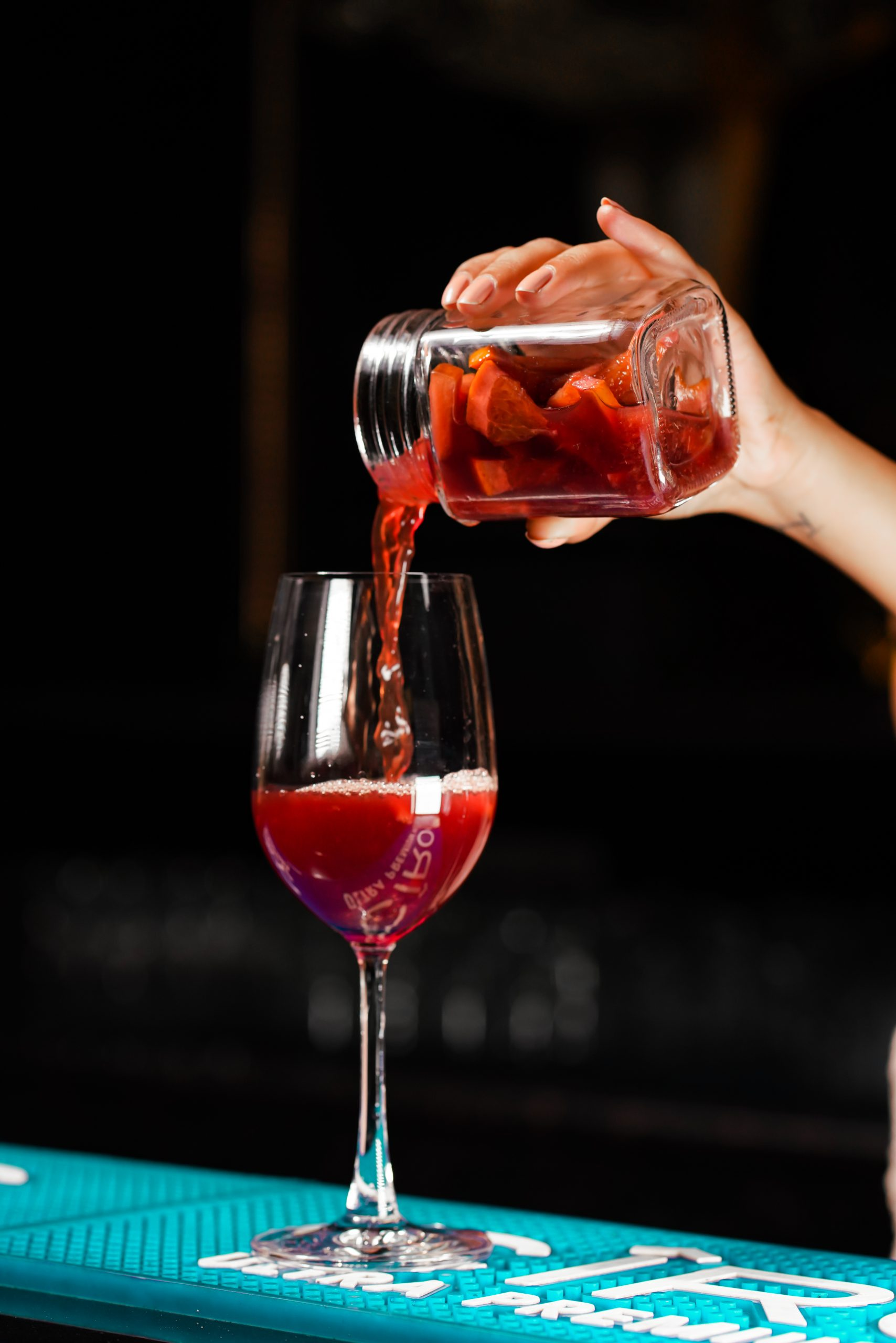 mixing wine