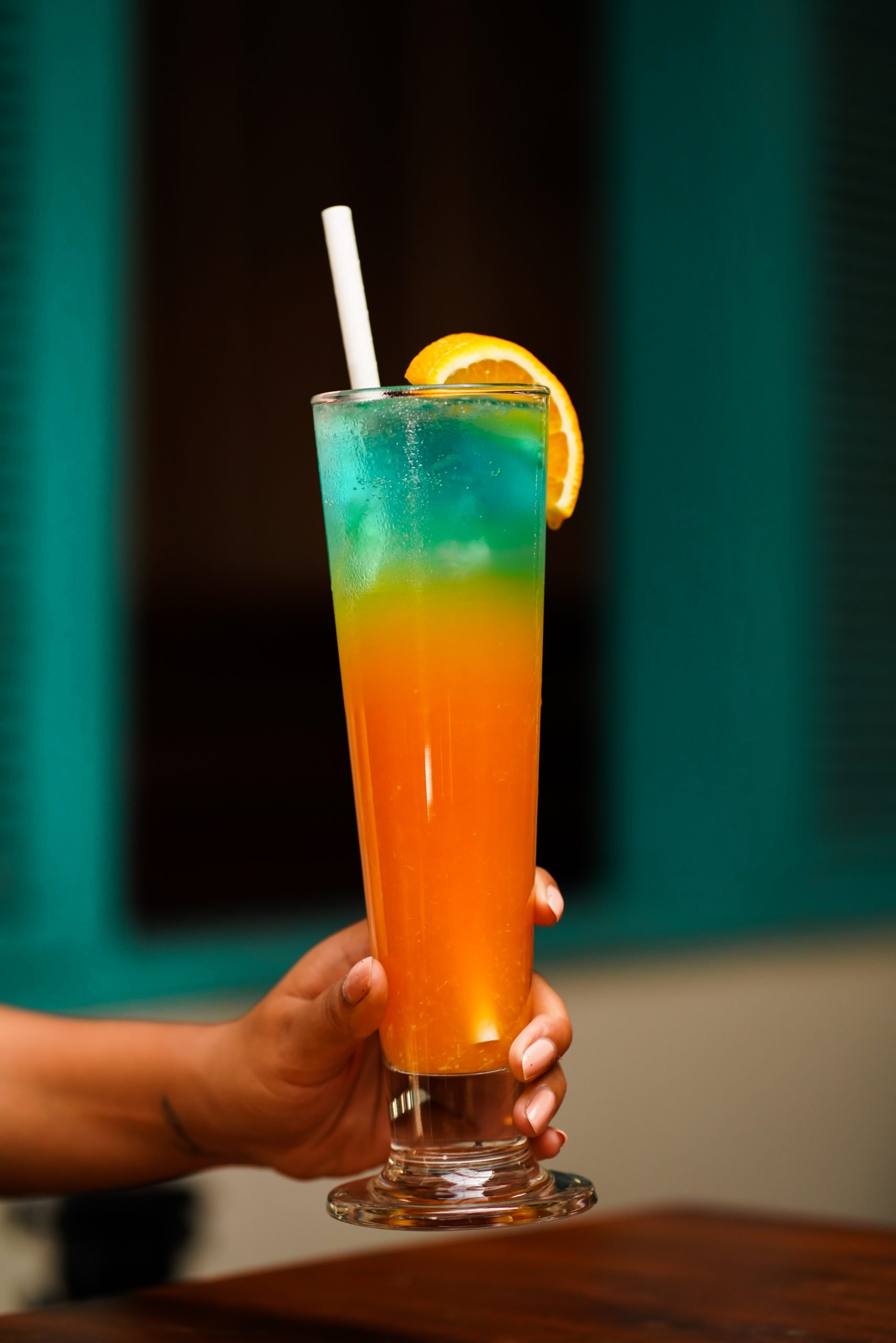 mocktail in a tall glass