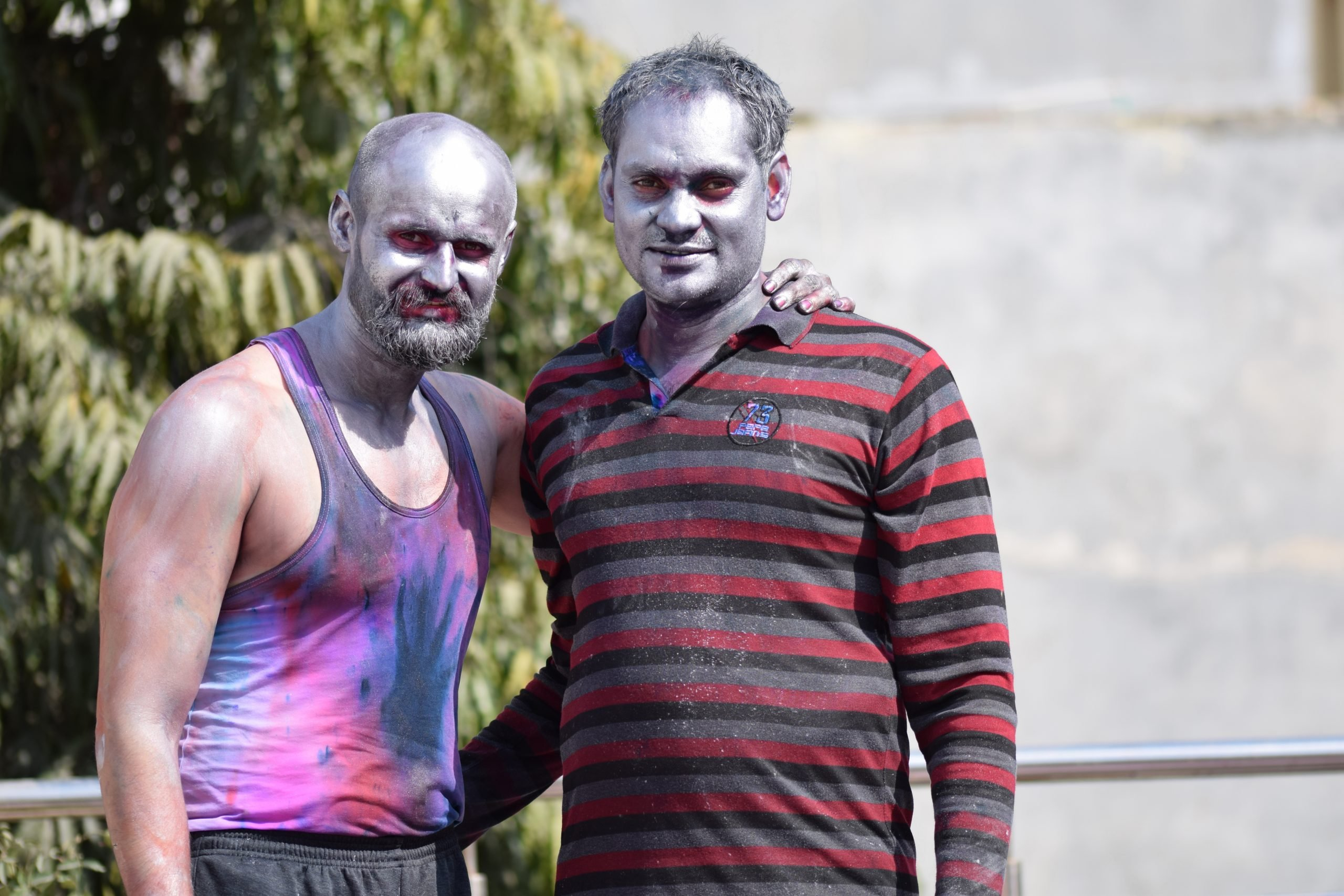 two young adults on holi