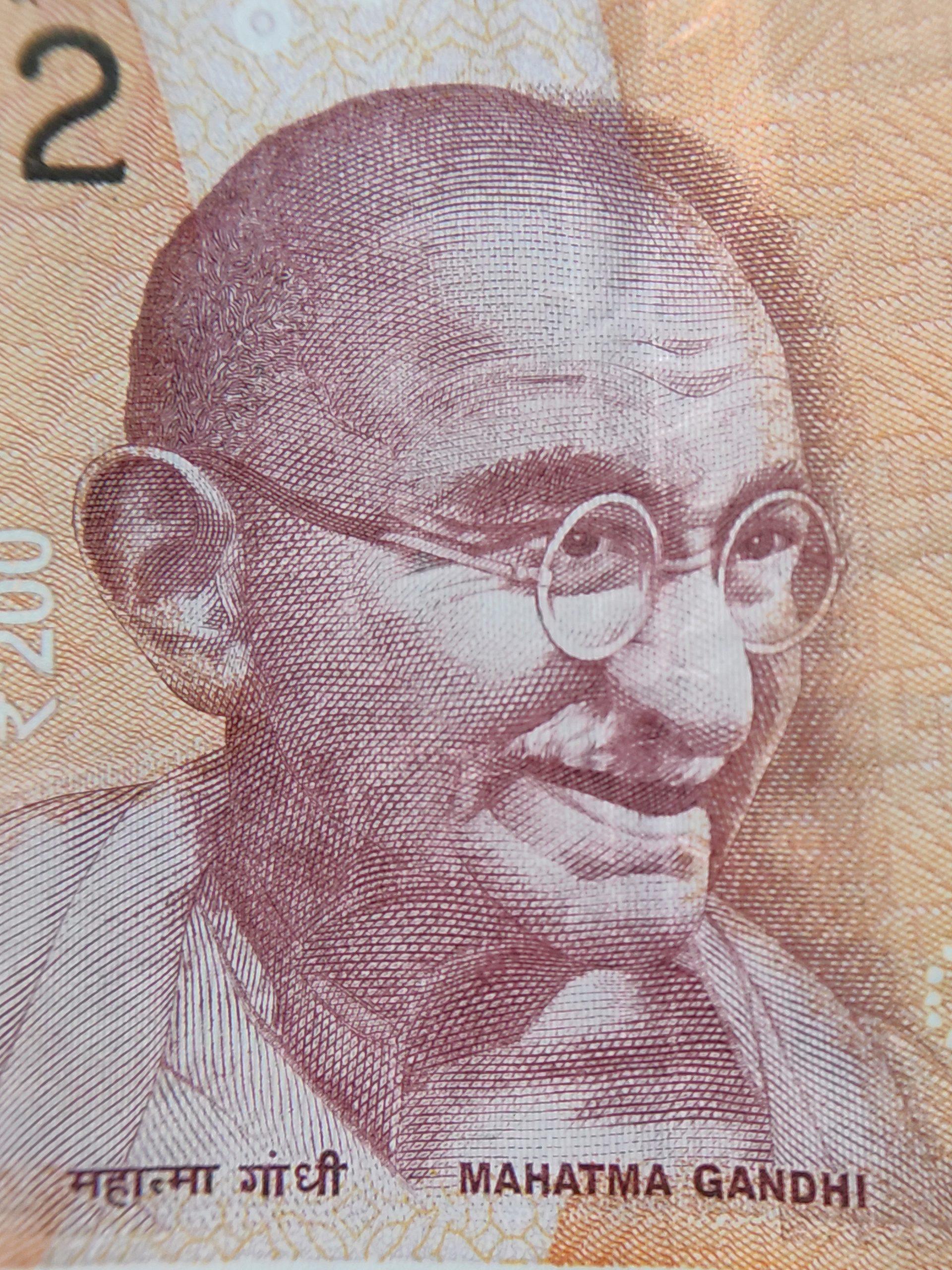 Mahatma Gandhi photo on currency note