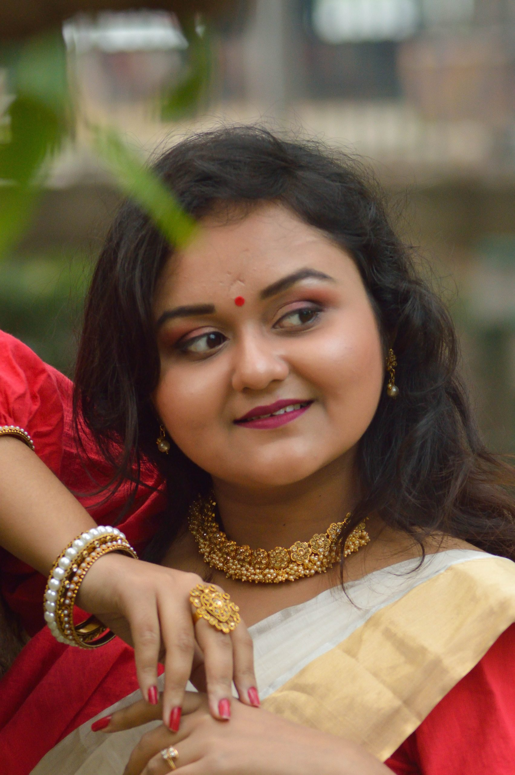 indian woman posing