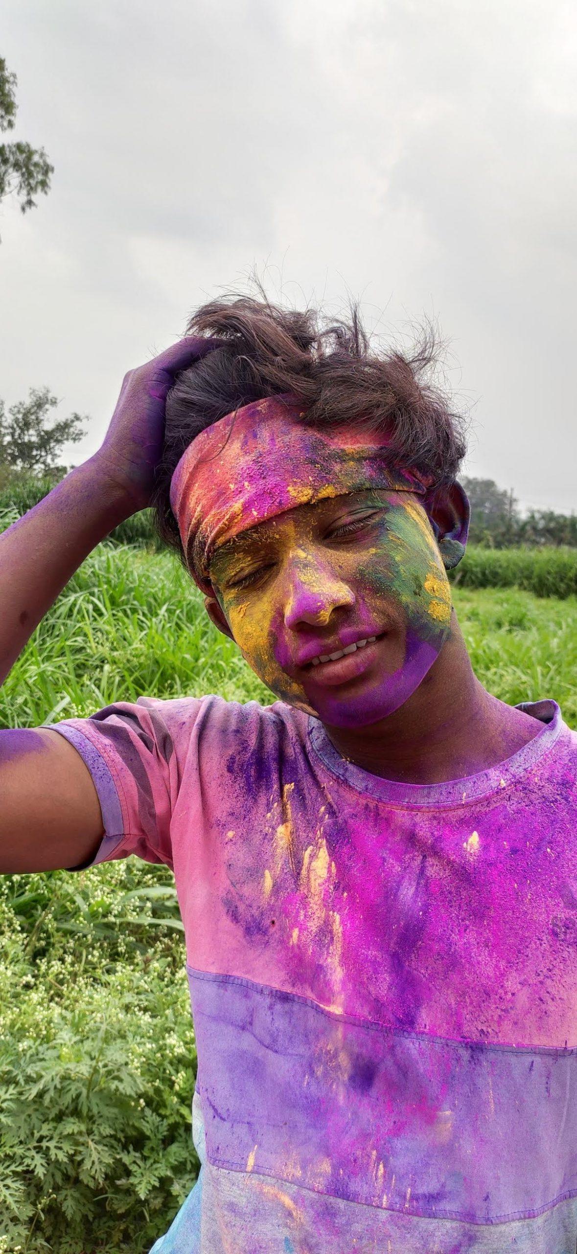 A boy during Holi festival