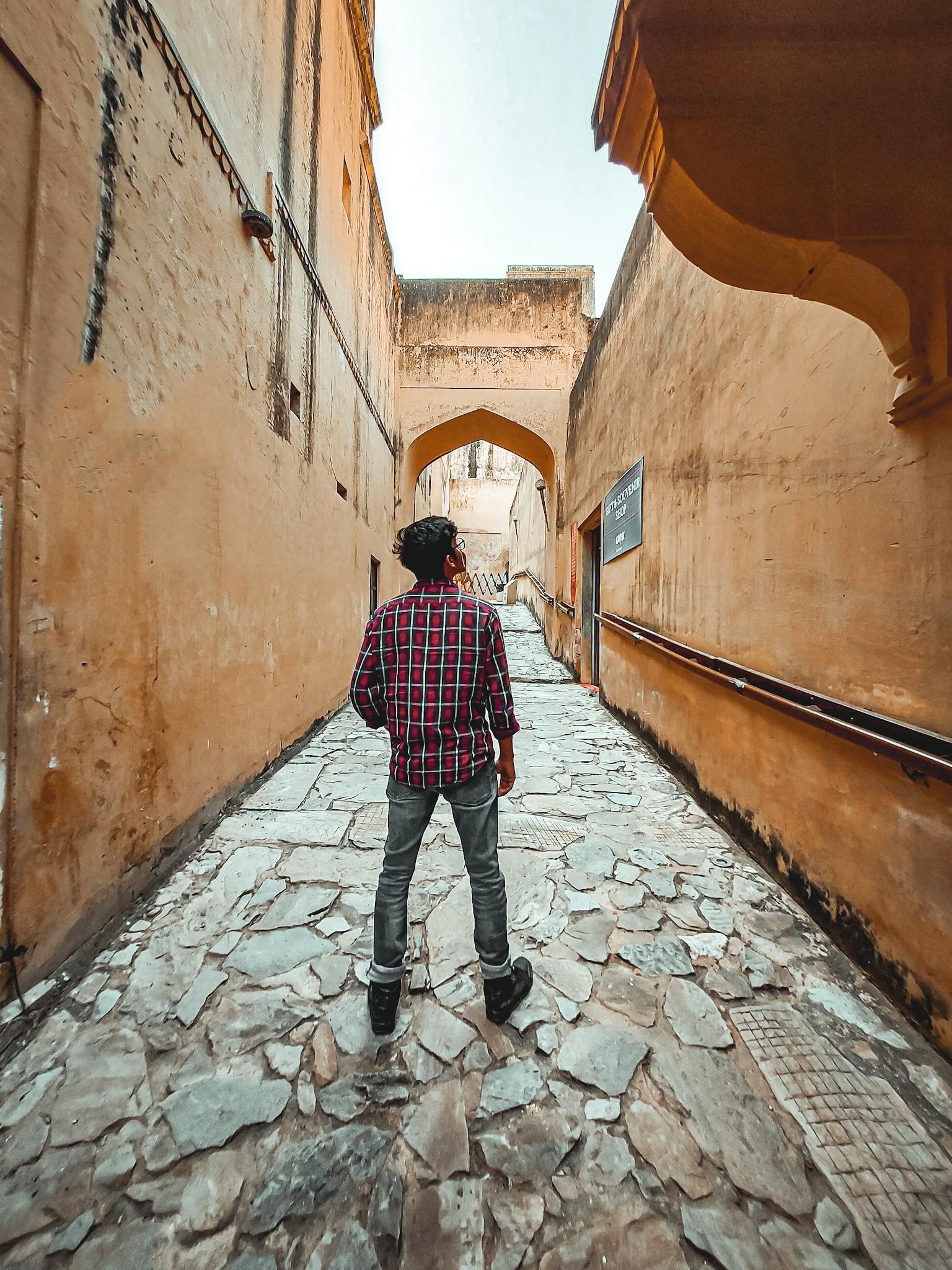 A boy in a street
