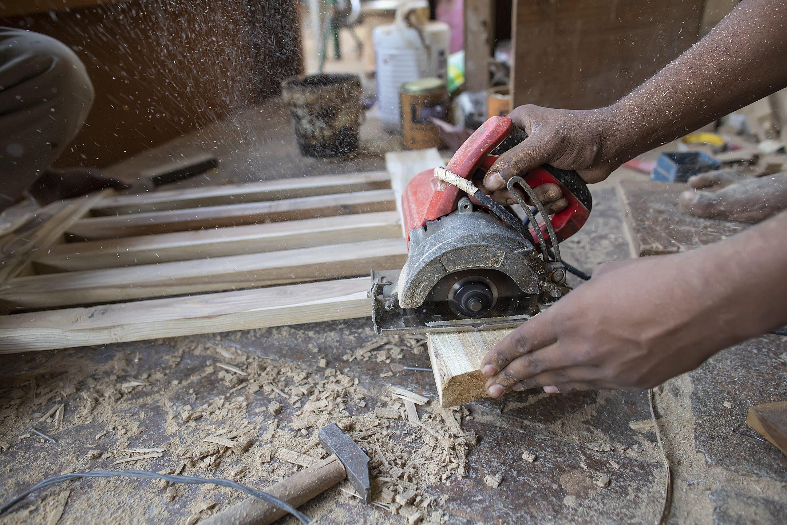 A carpenter's work