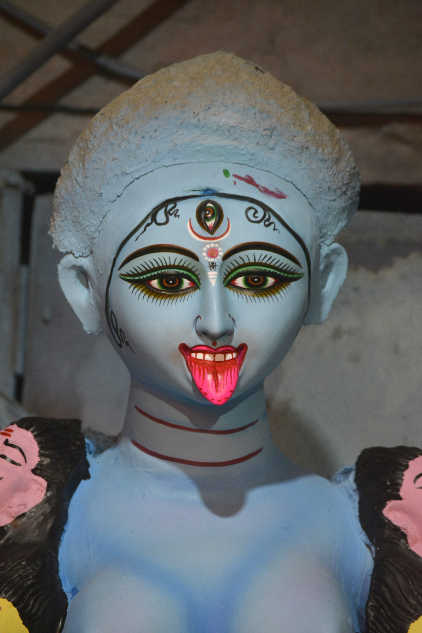 A clay idol of Hindu Goddess