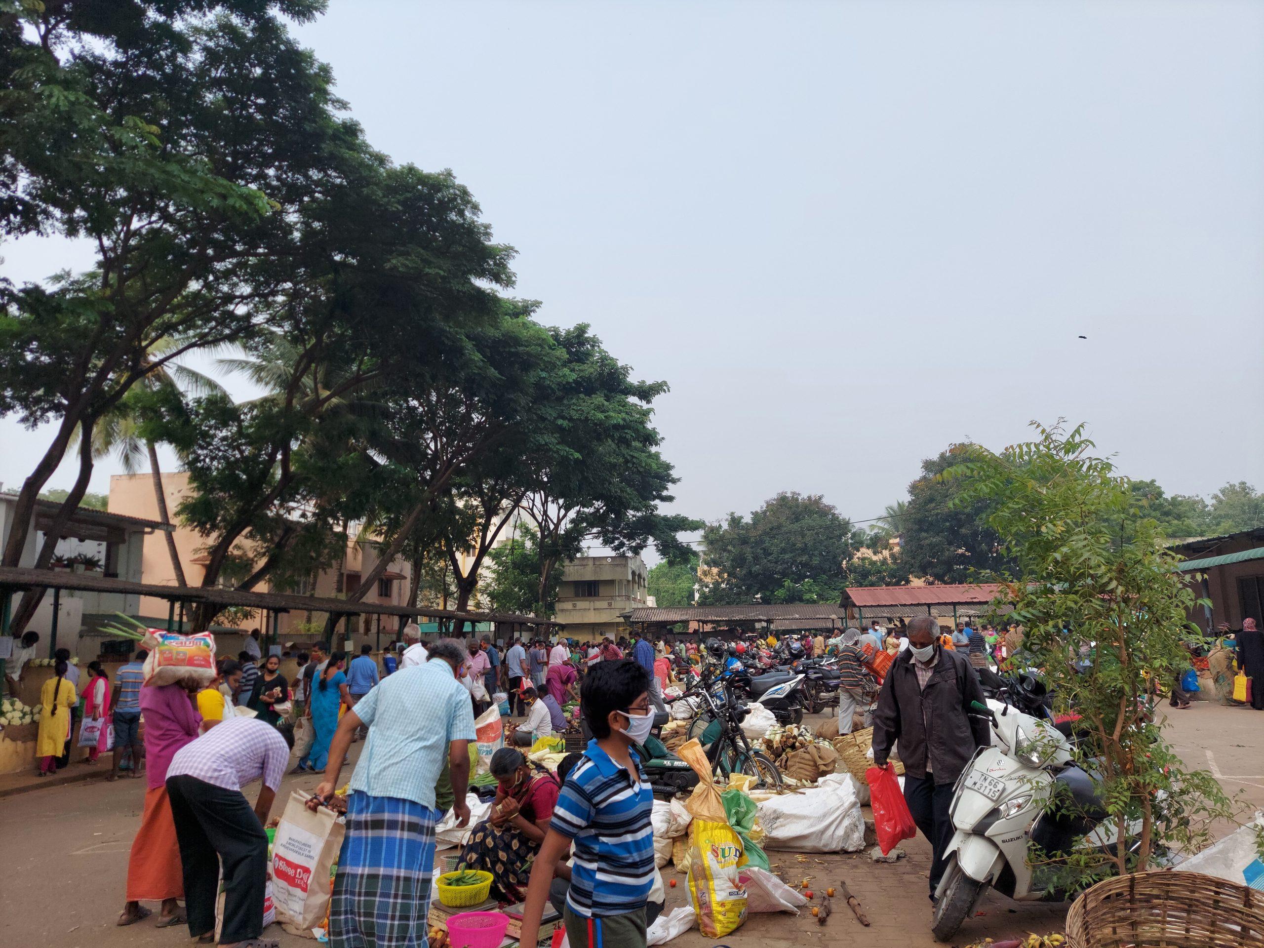A crowded market
