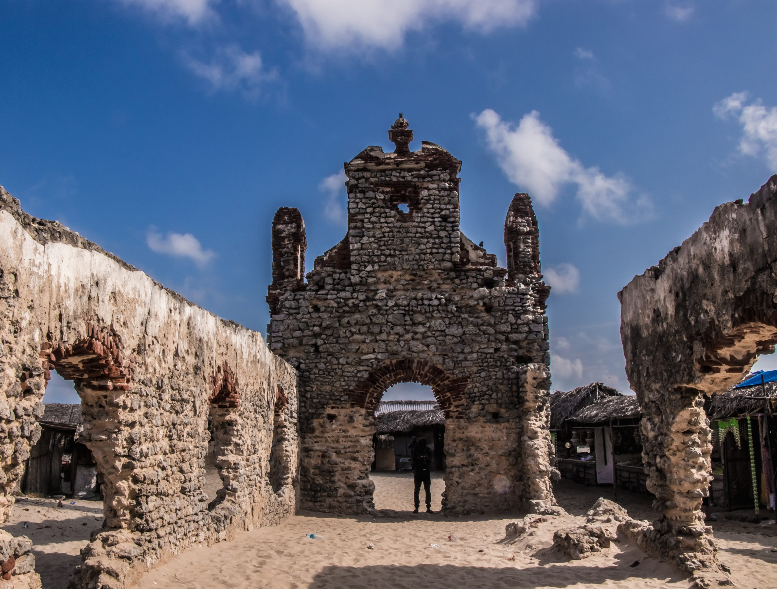 A destroyed church