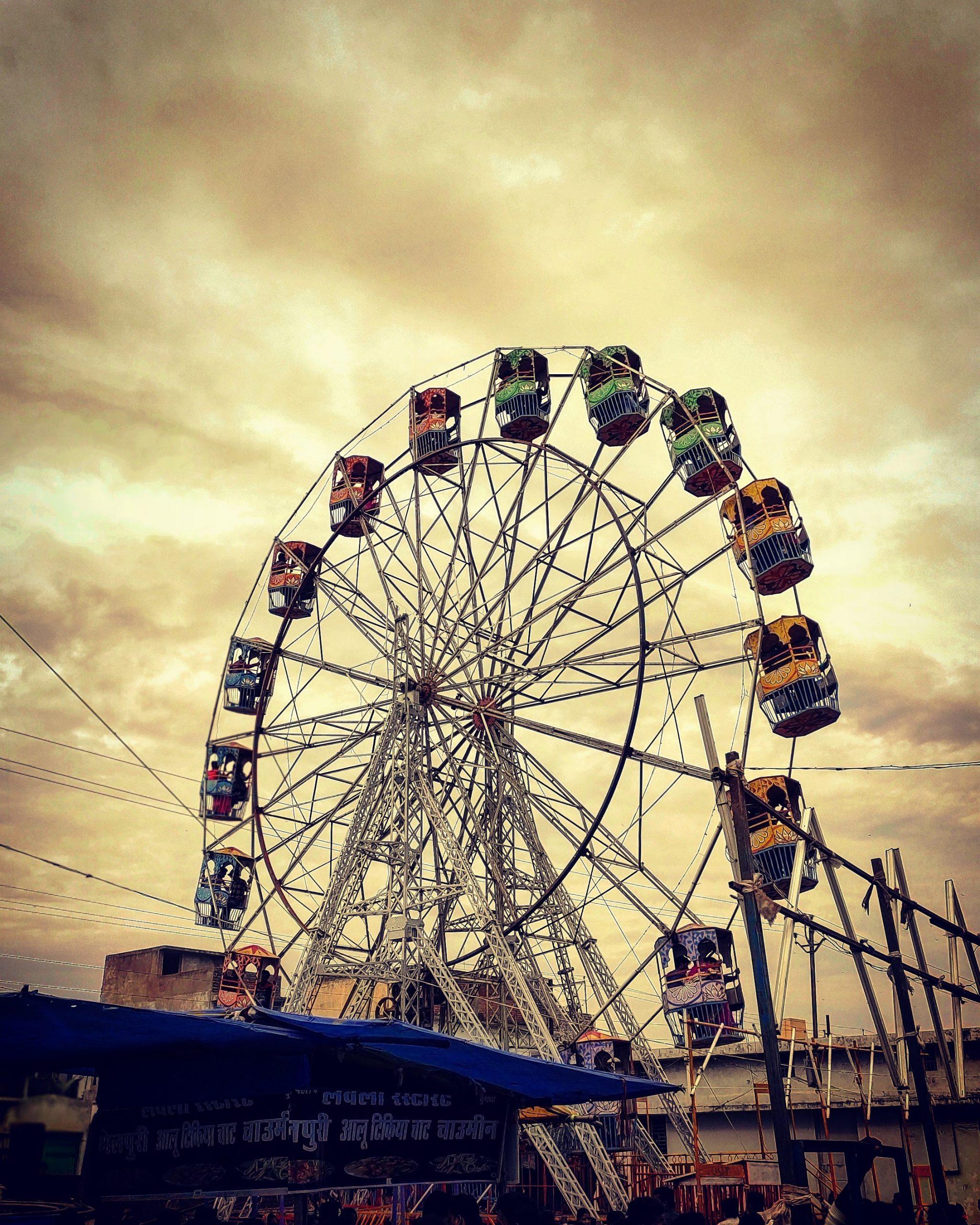 A ferris wheel in amusement park