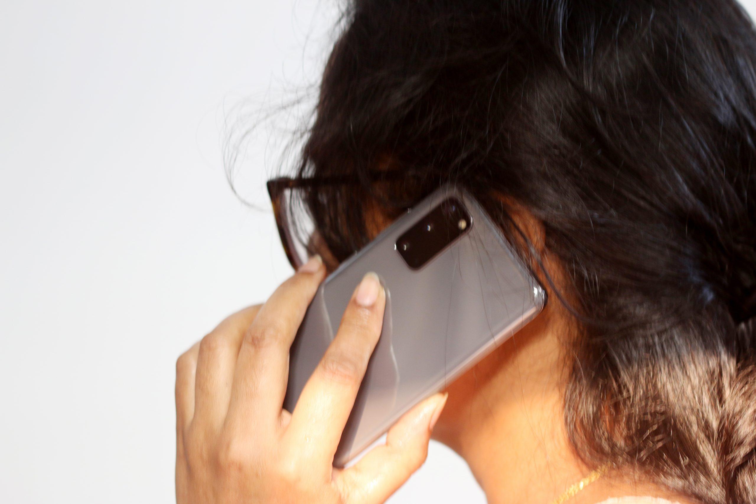 A girl on phone call