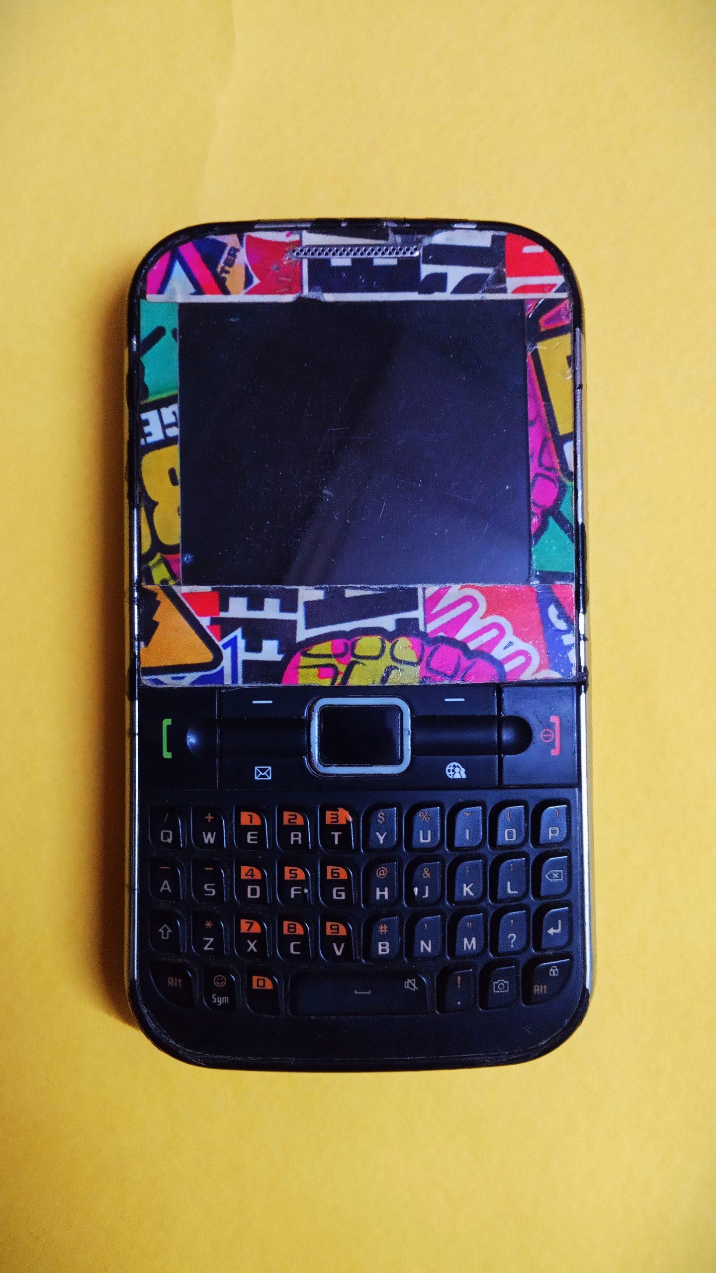 A keypad phone