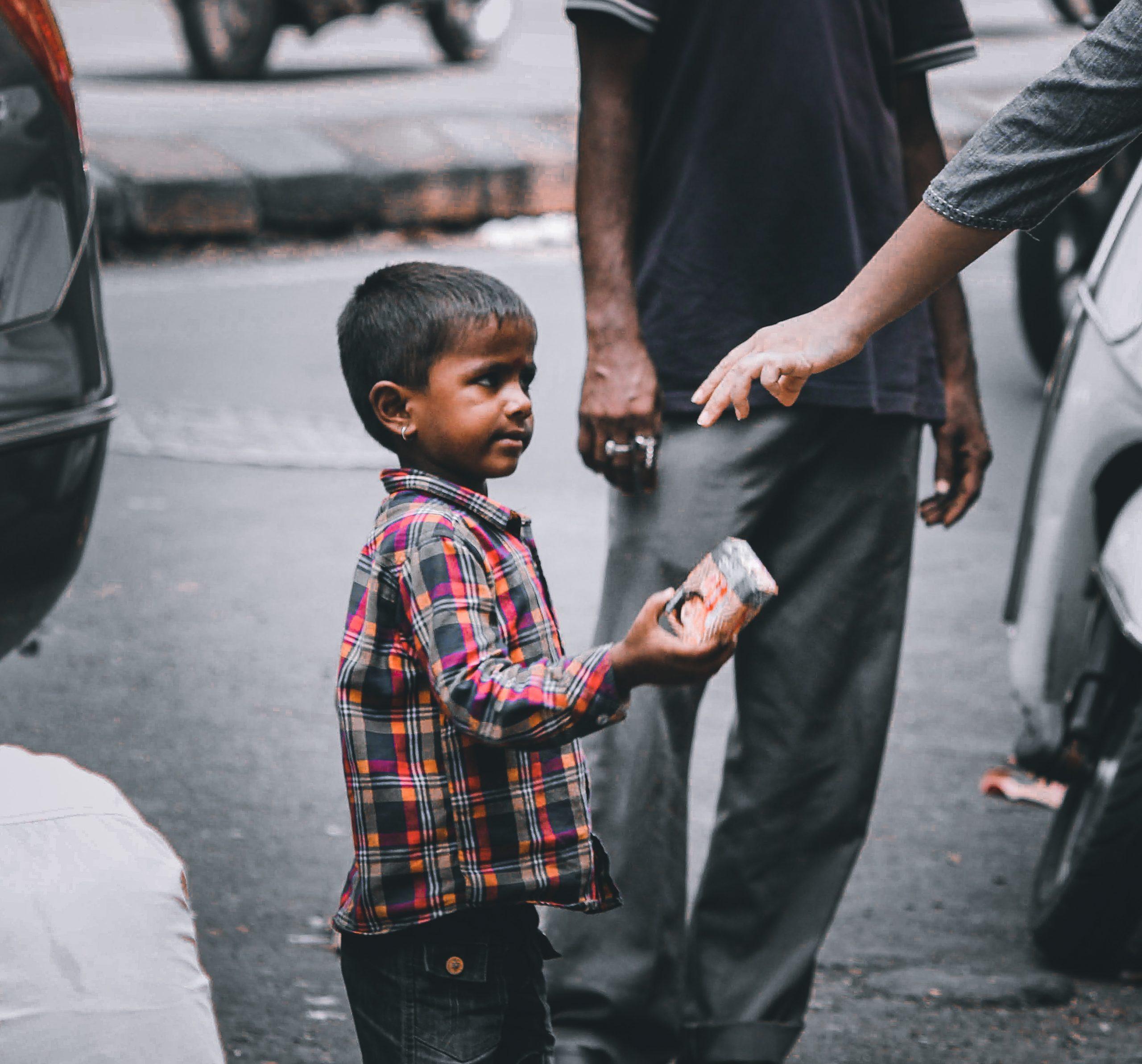 A kid in a street