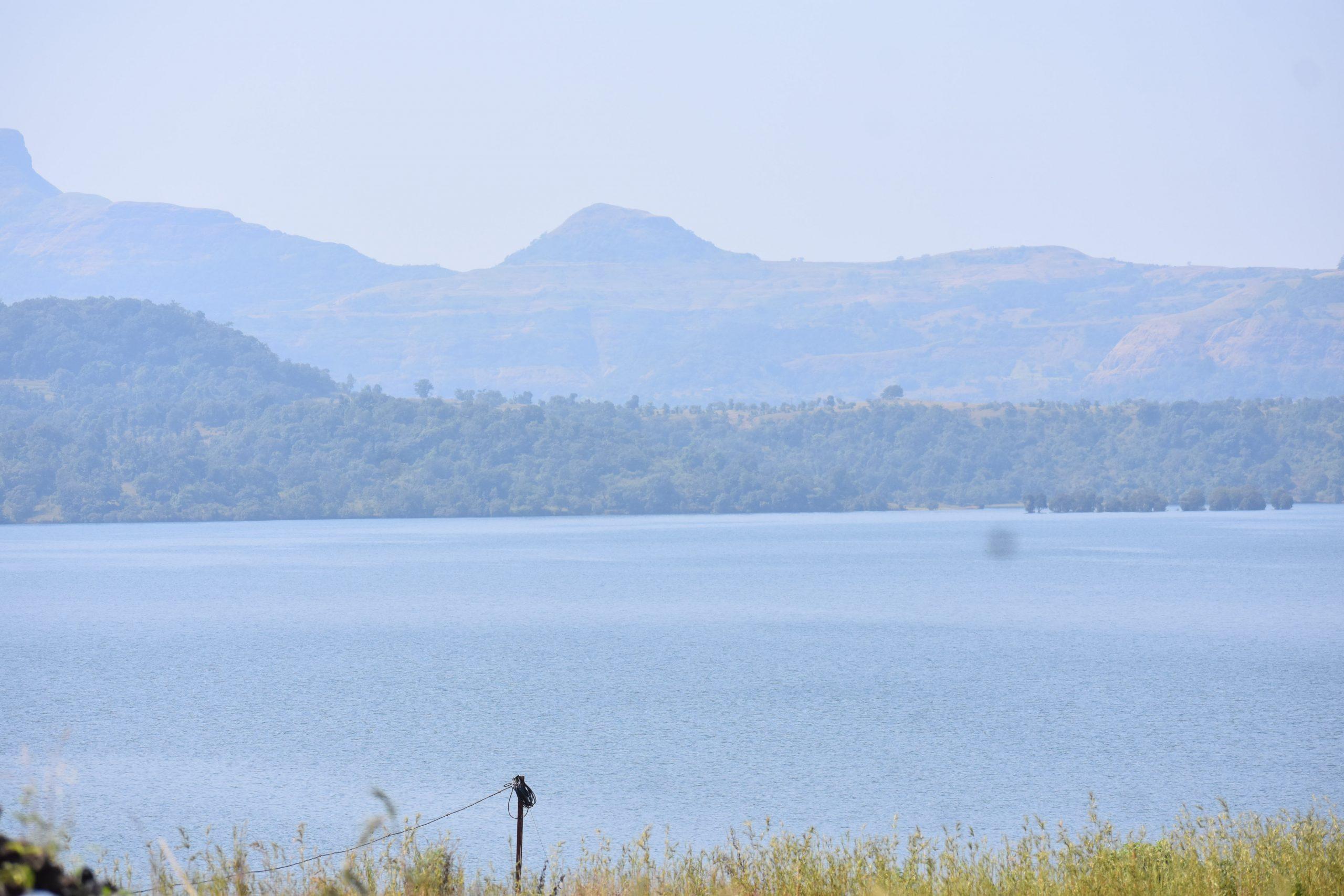 A lake under mountains
