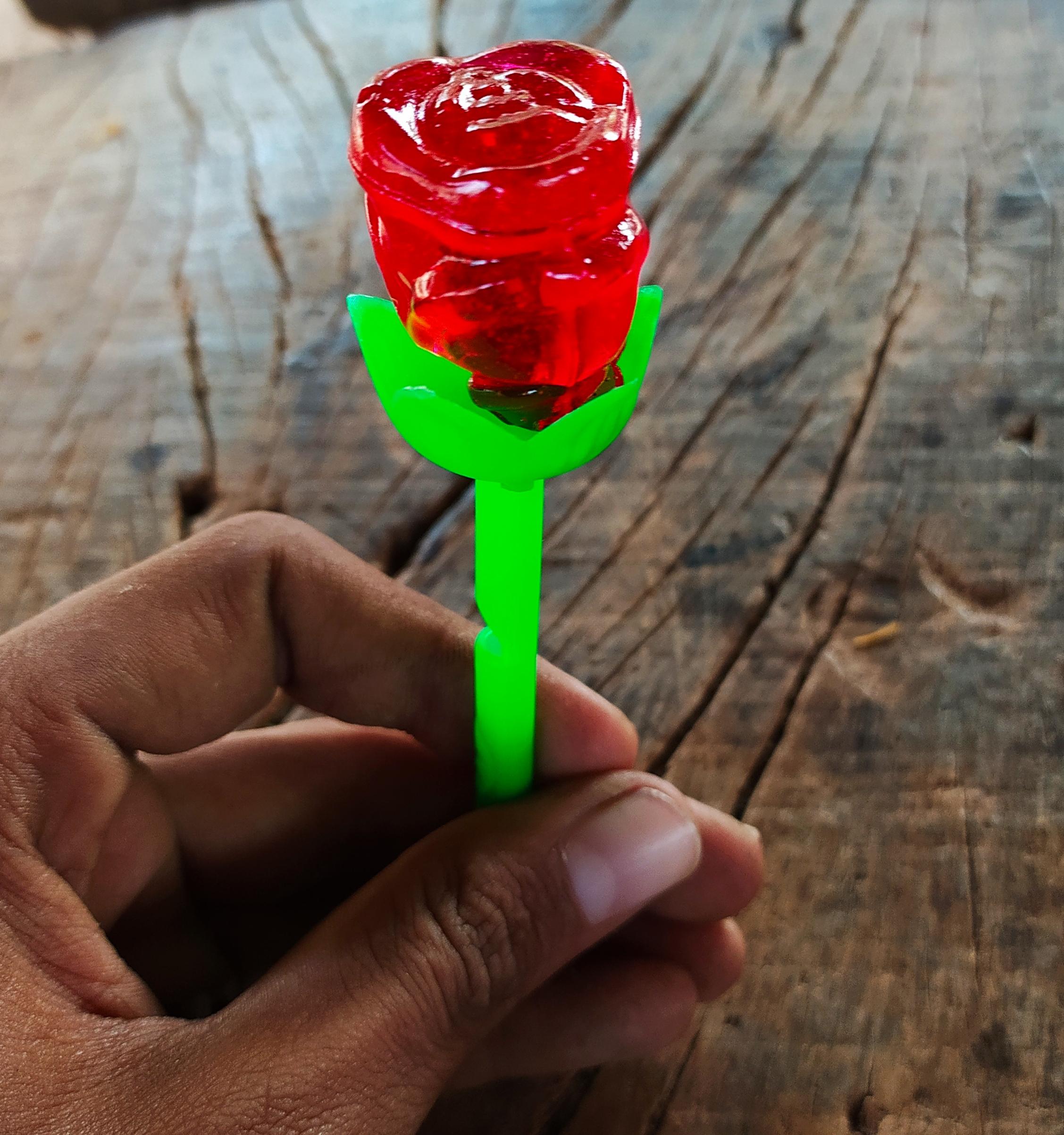 A lollipop in hand