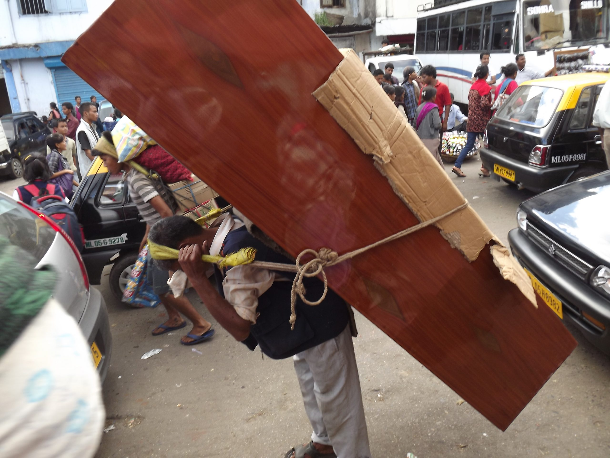 A man carrying load