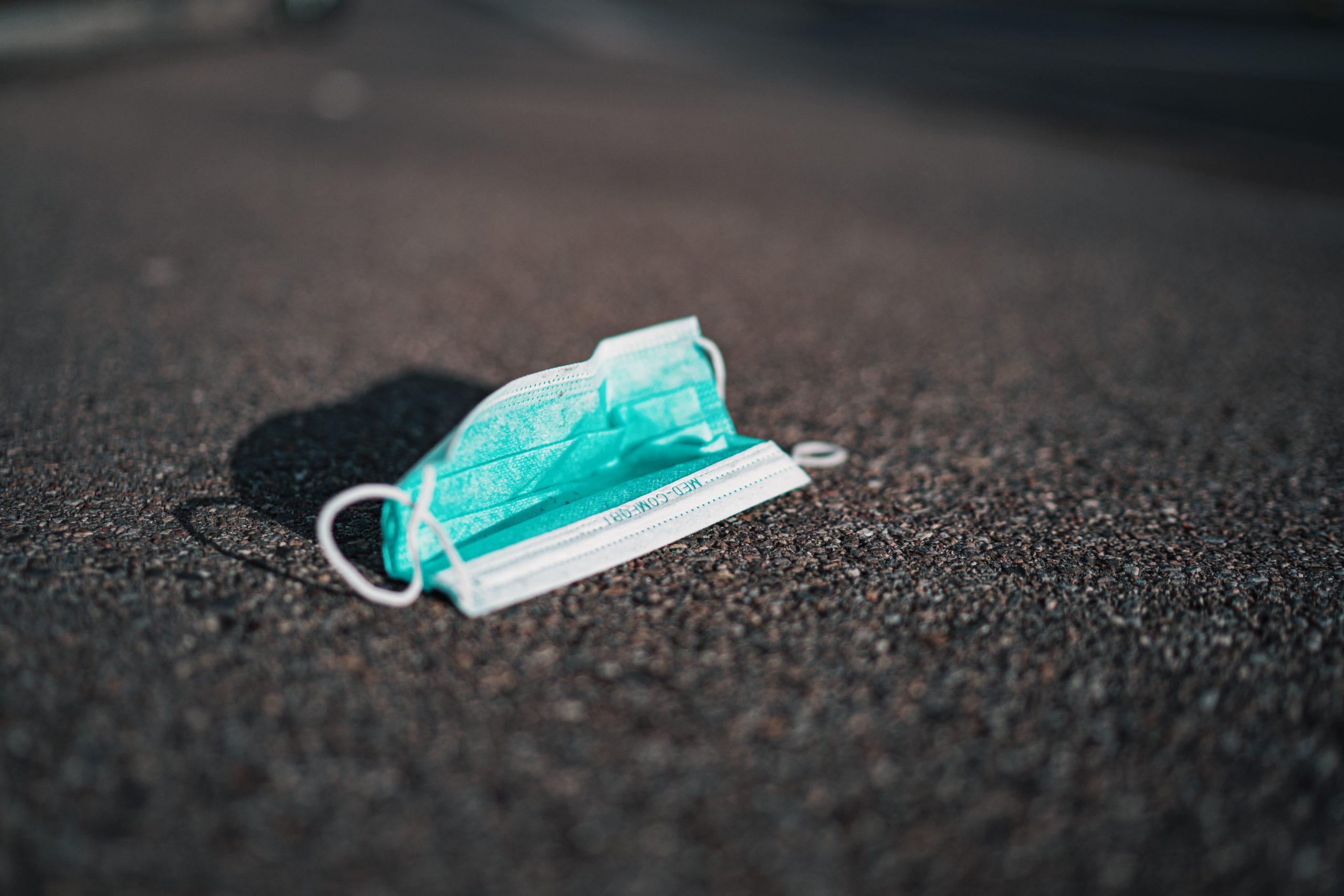 A mask fallen on road