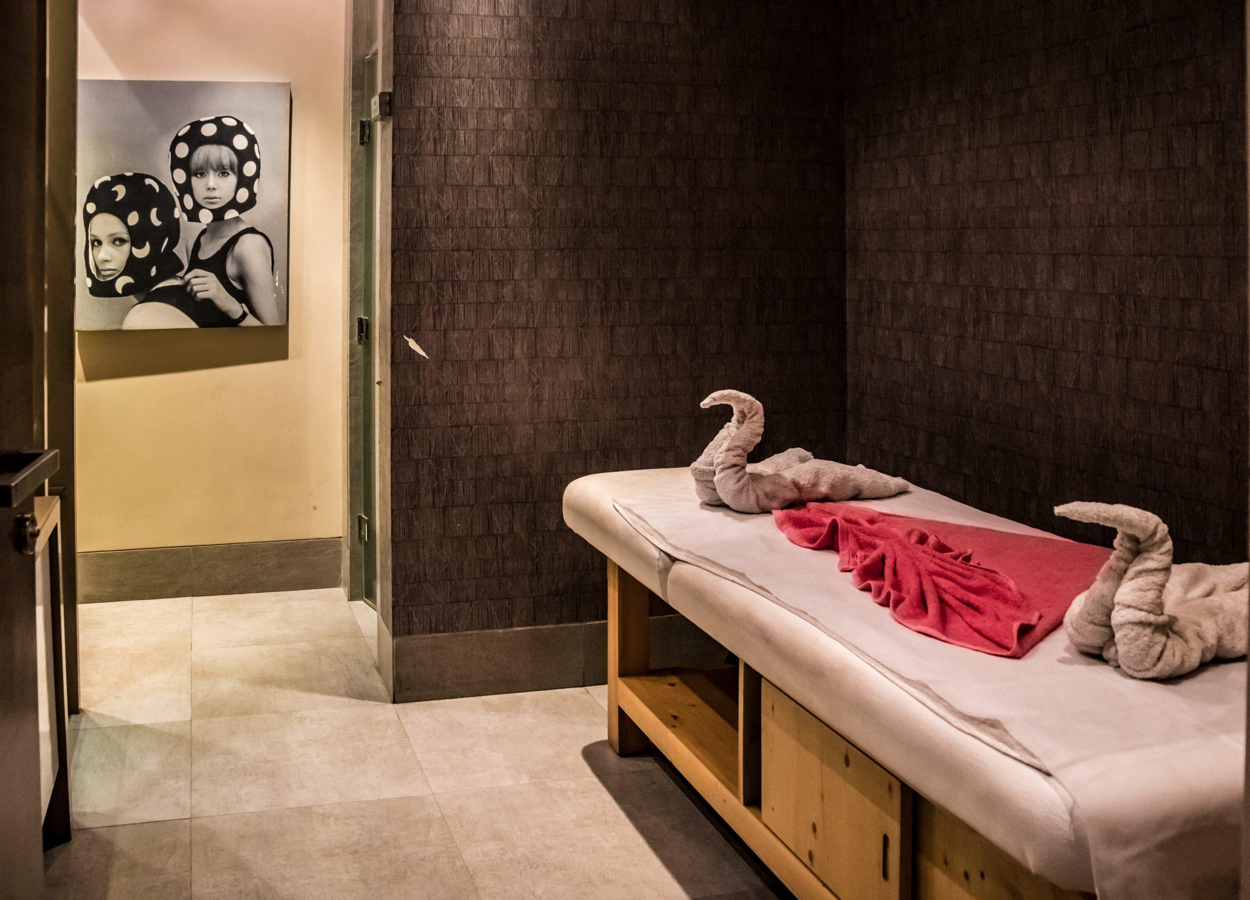 A massage room