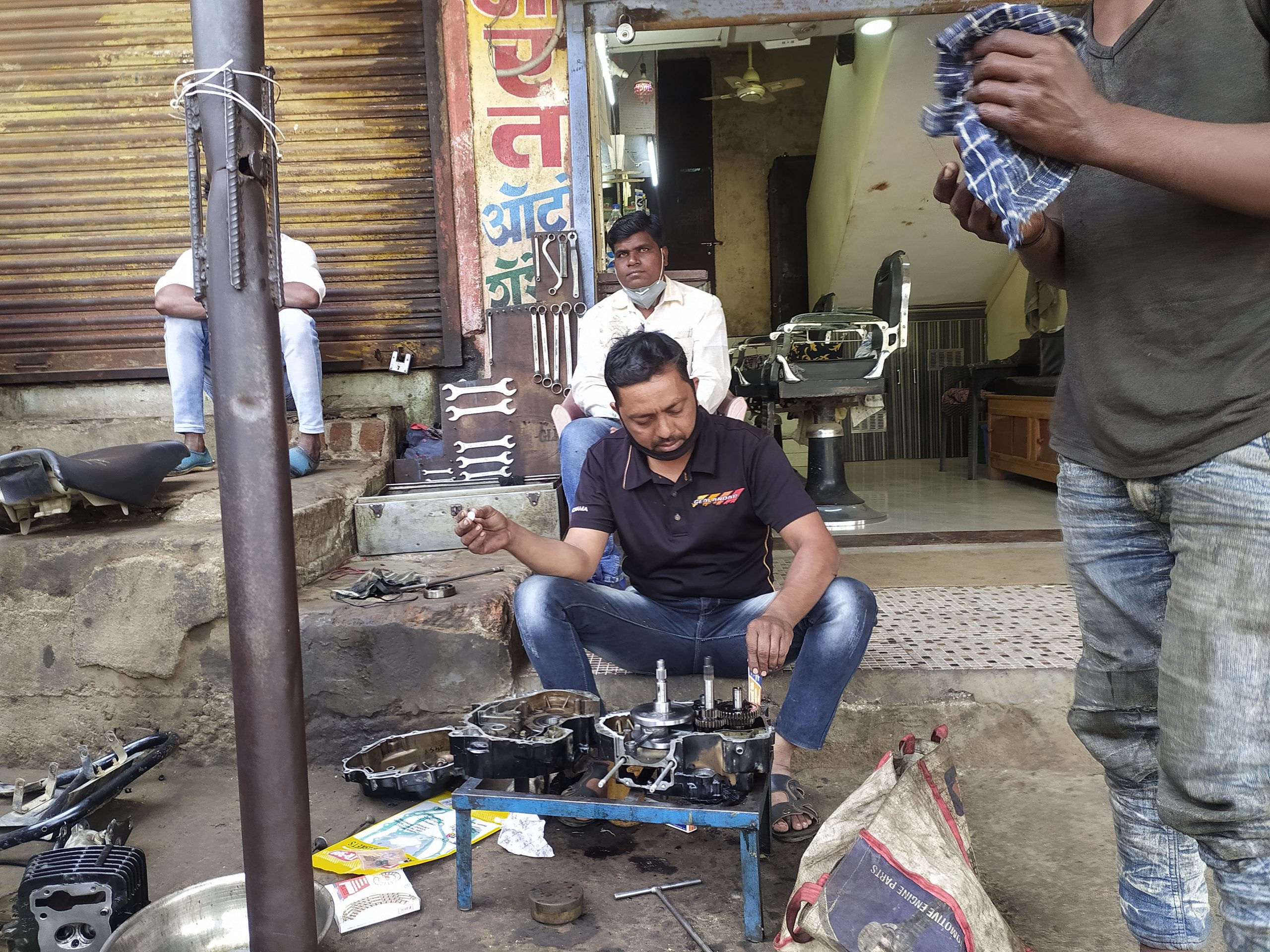 A motor mechanic shop