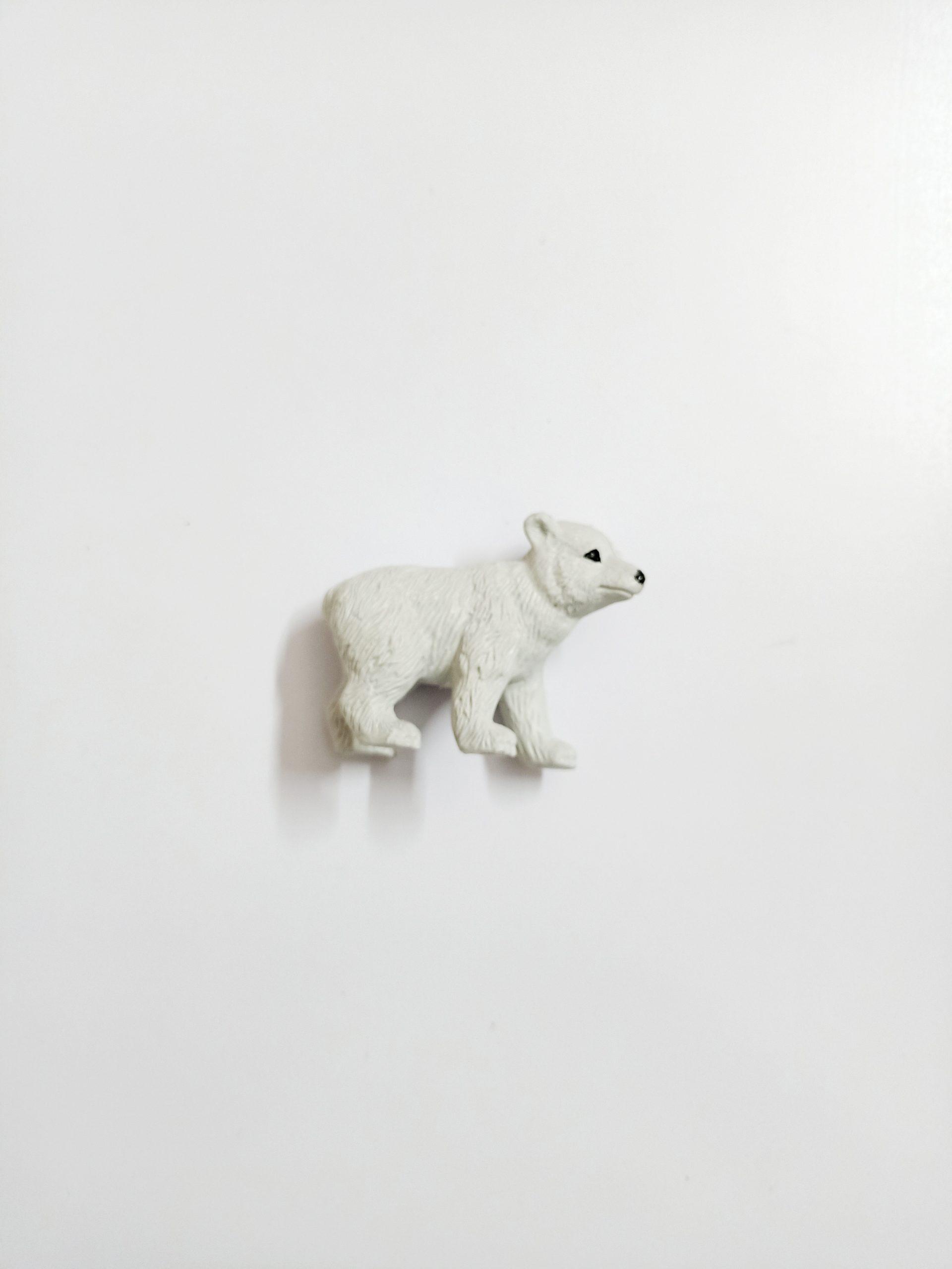 A polar bear toy