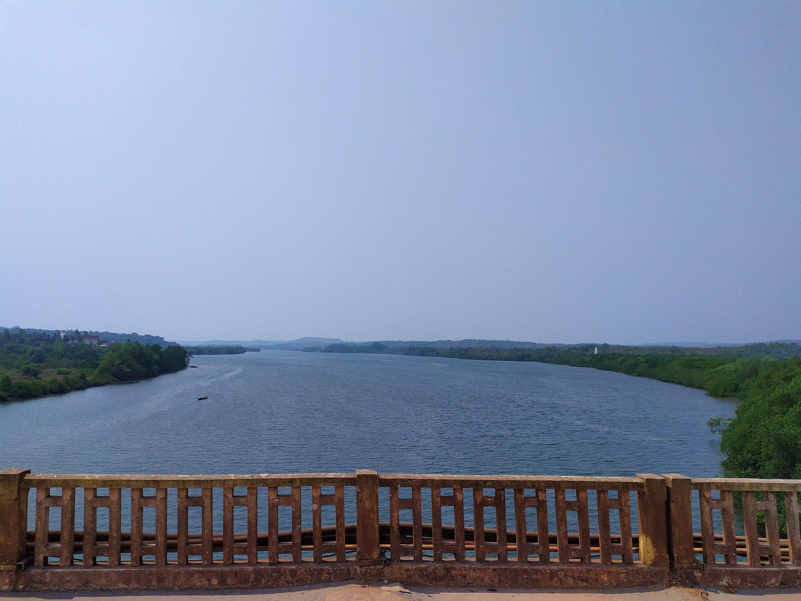 A river view form a bridge