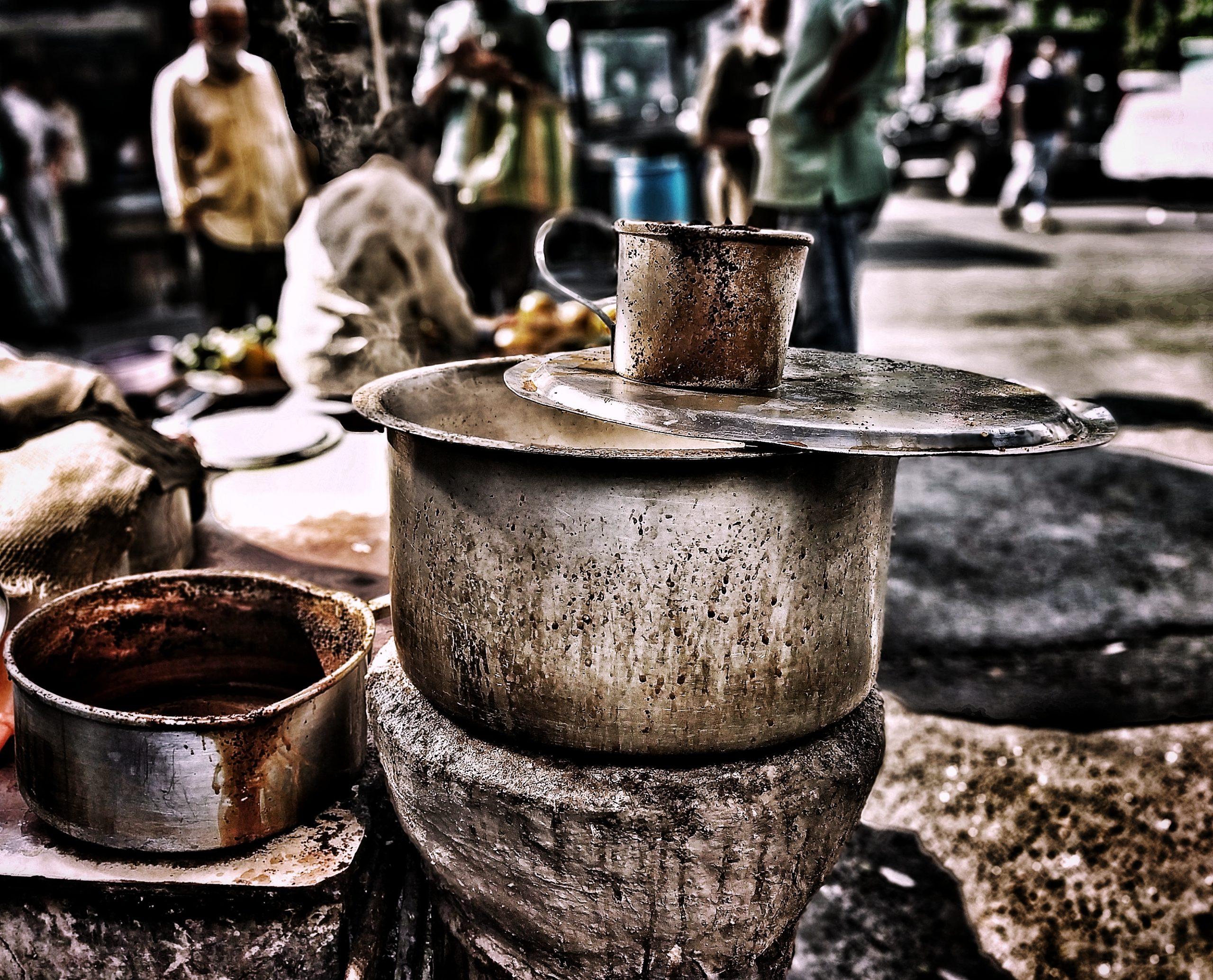 A roadside tea maker