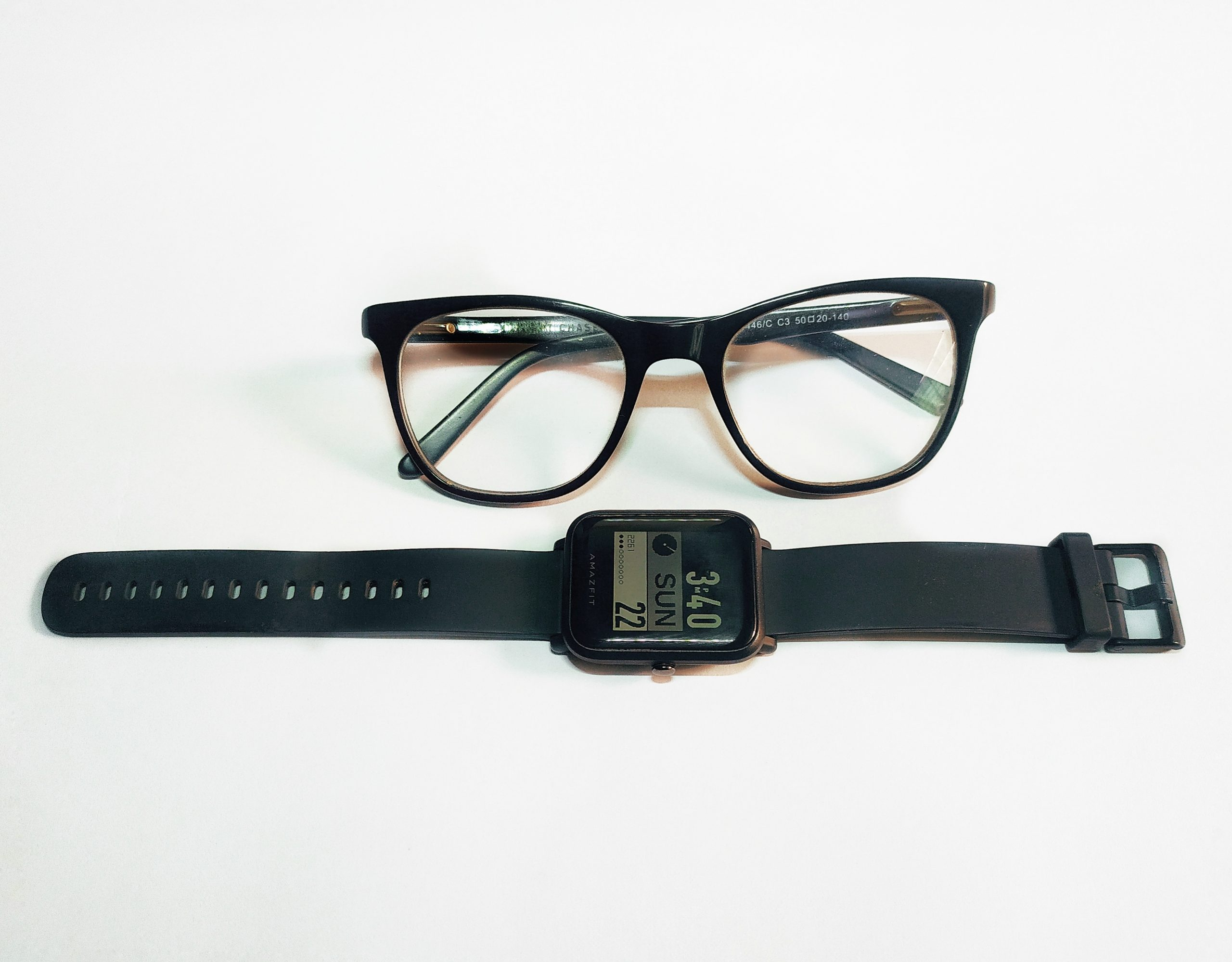 A smartwatch and goggles