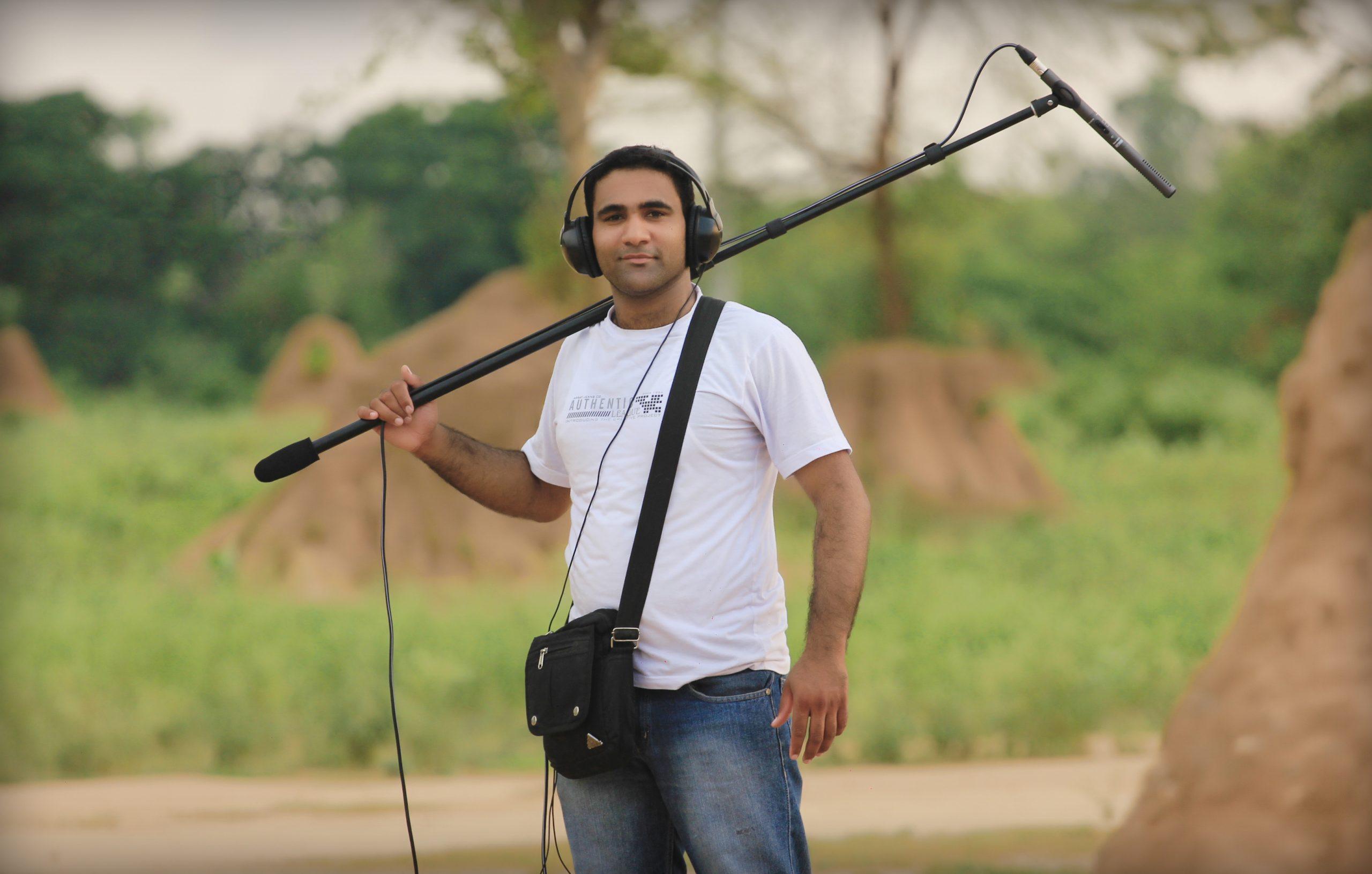 A sound recordist