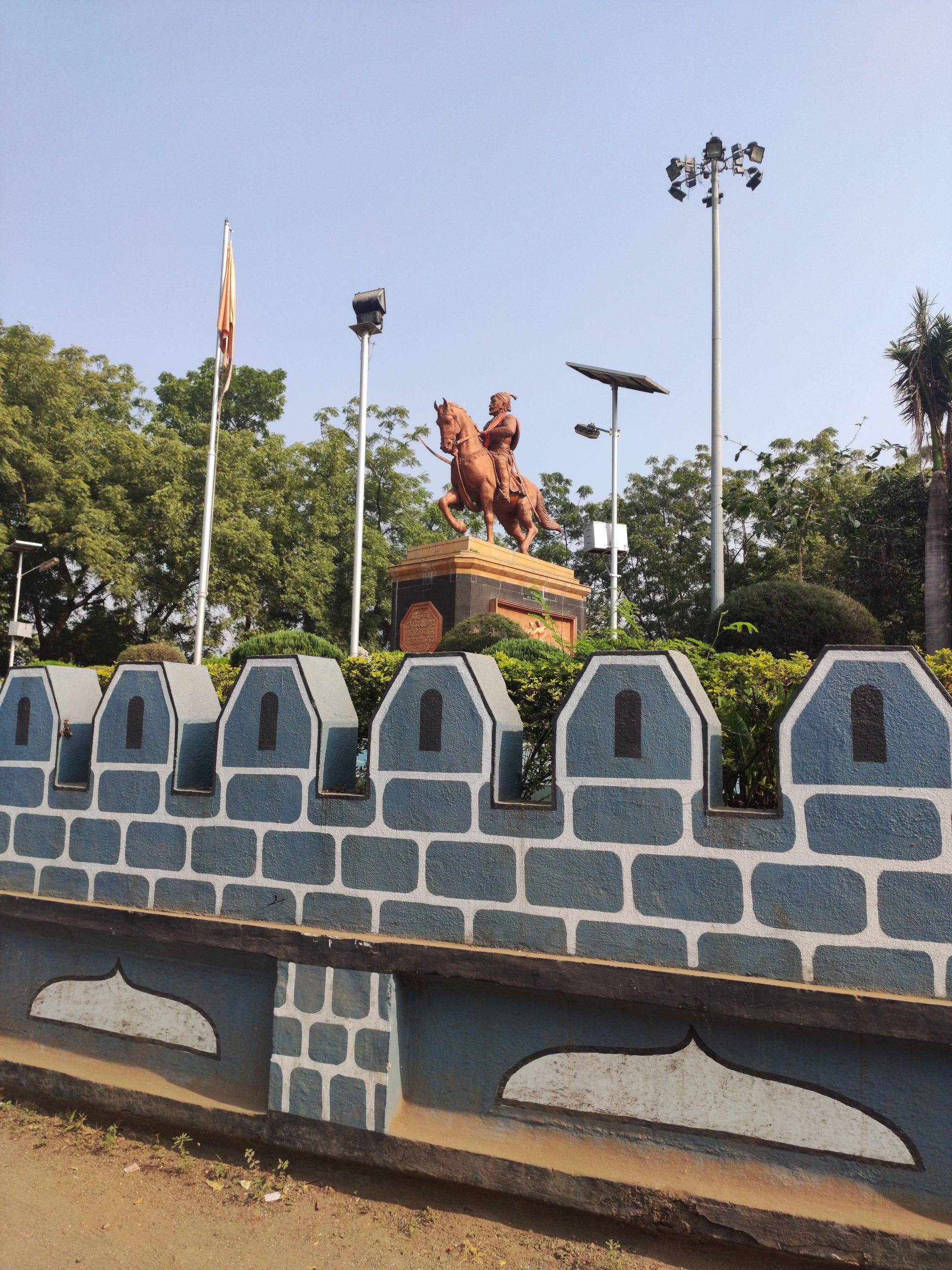 A statue of Shivaji Maharaj