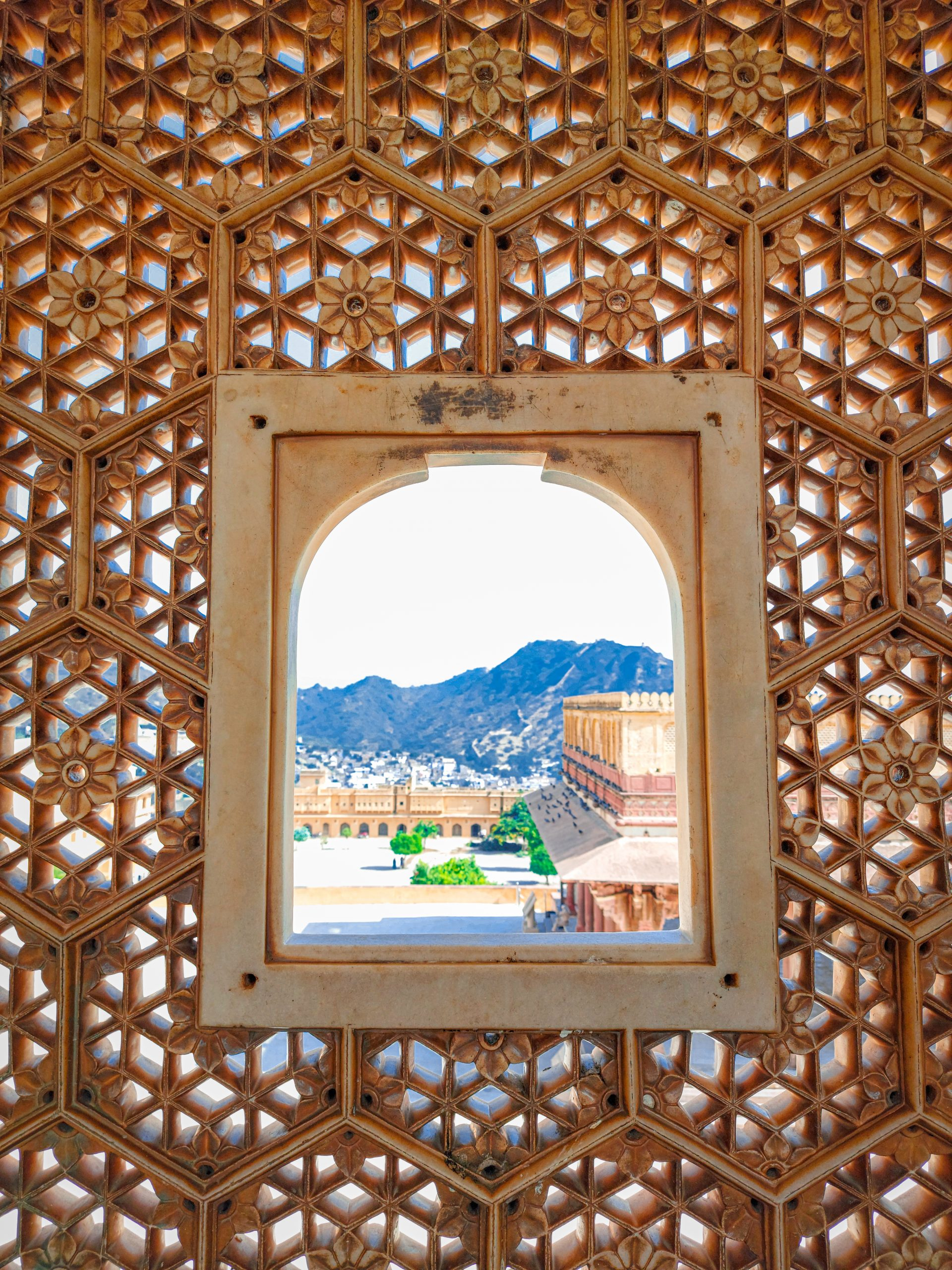Window of a palace in Jaipur