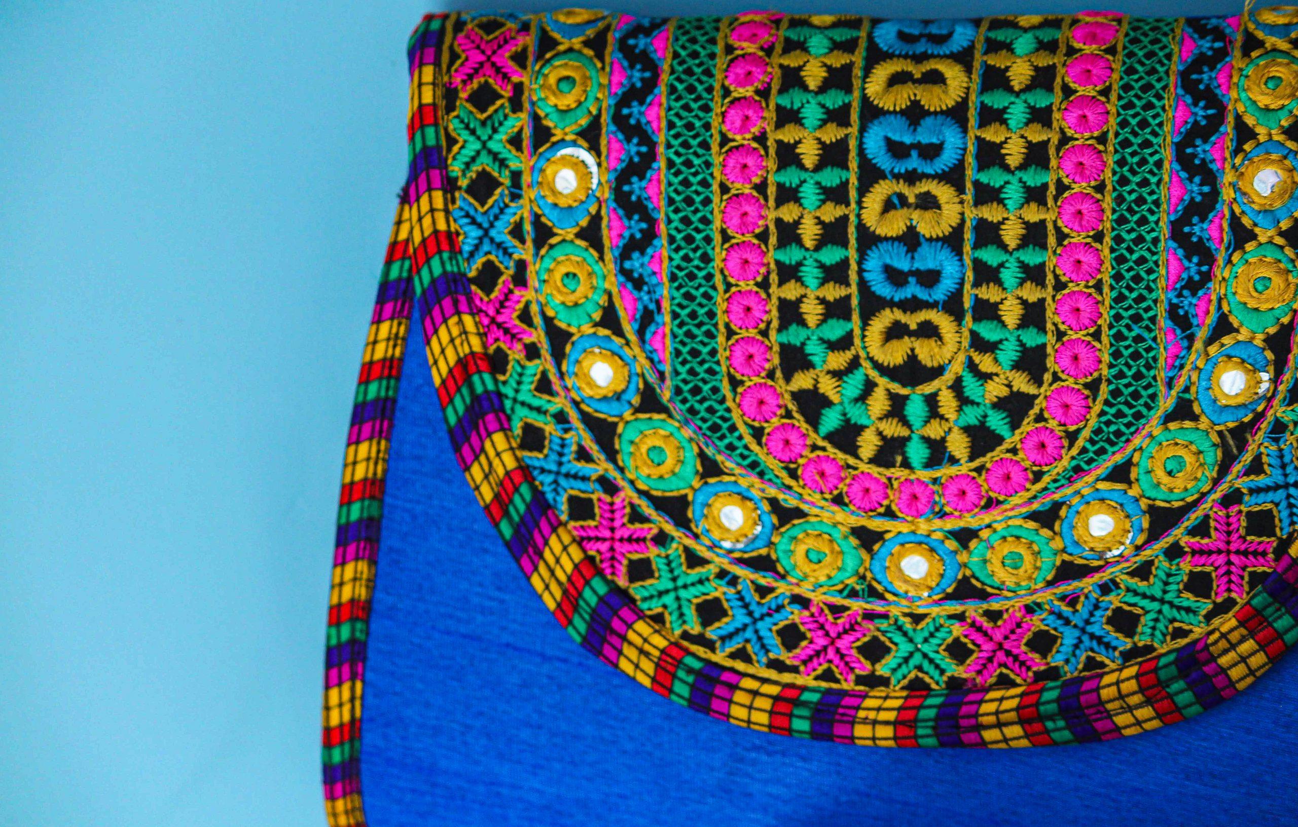 A handmade purse