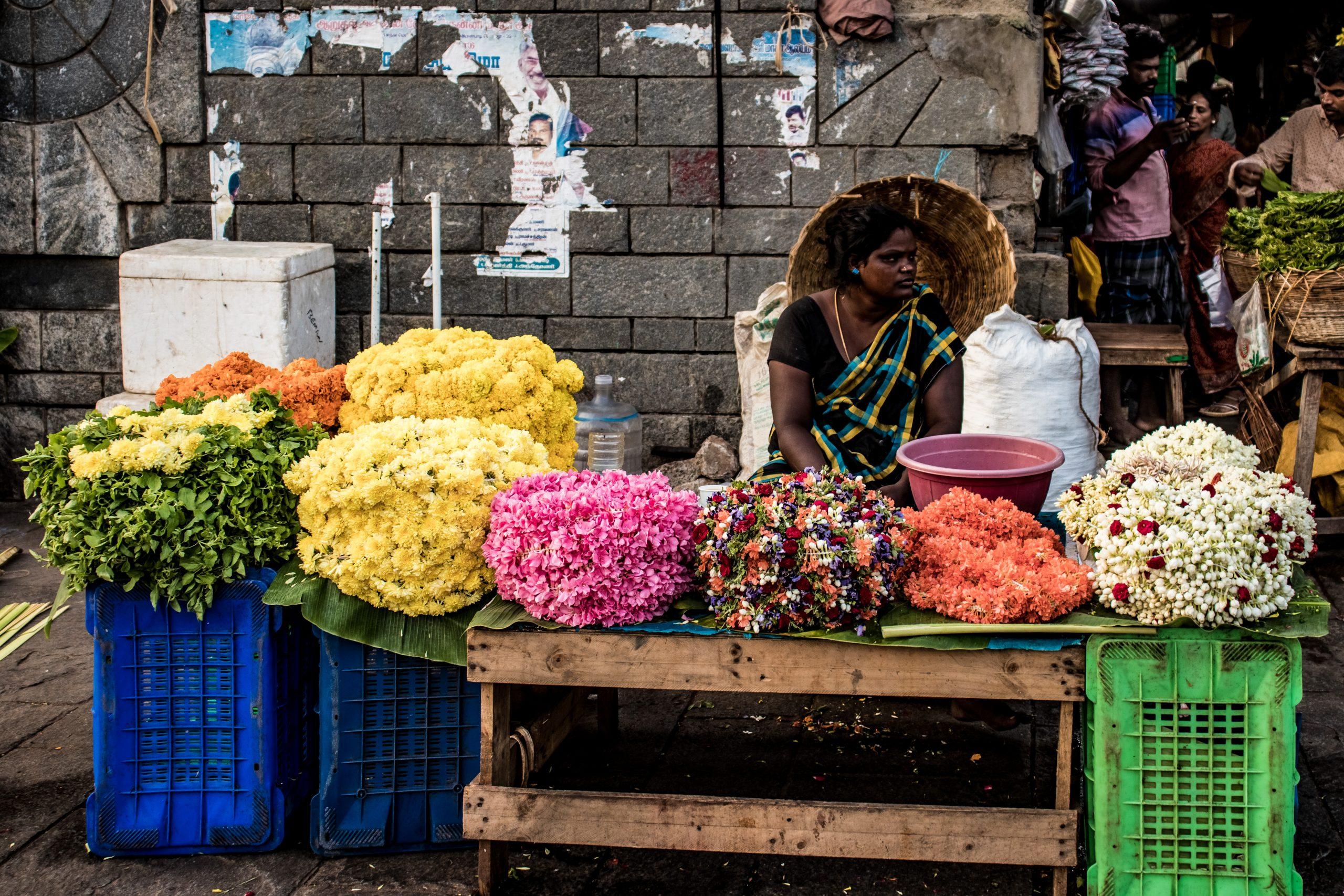 flower seller stall
