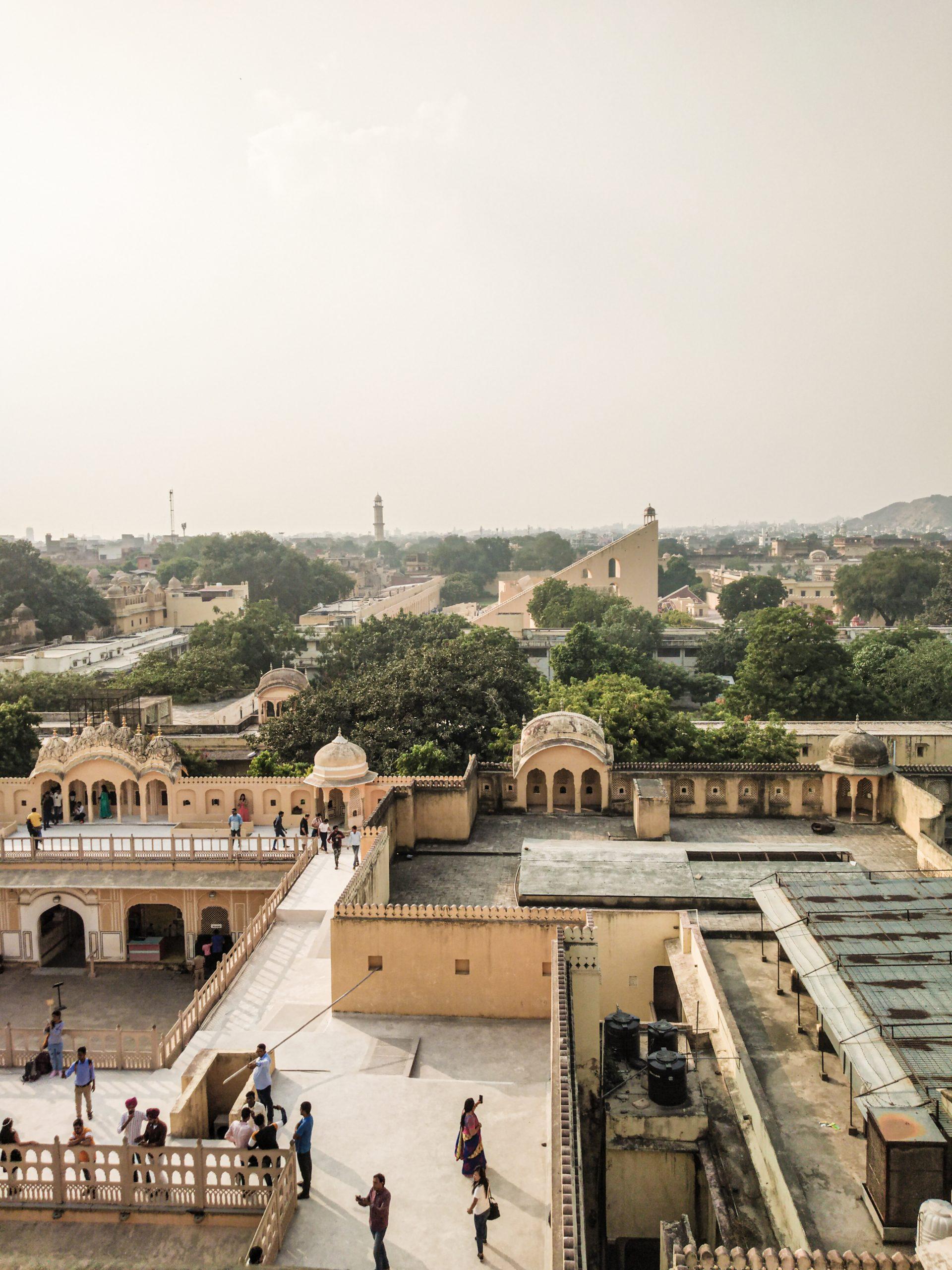Aerial view of Hawa Mahal in Jaipur