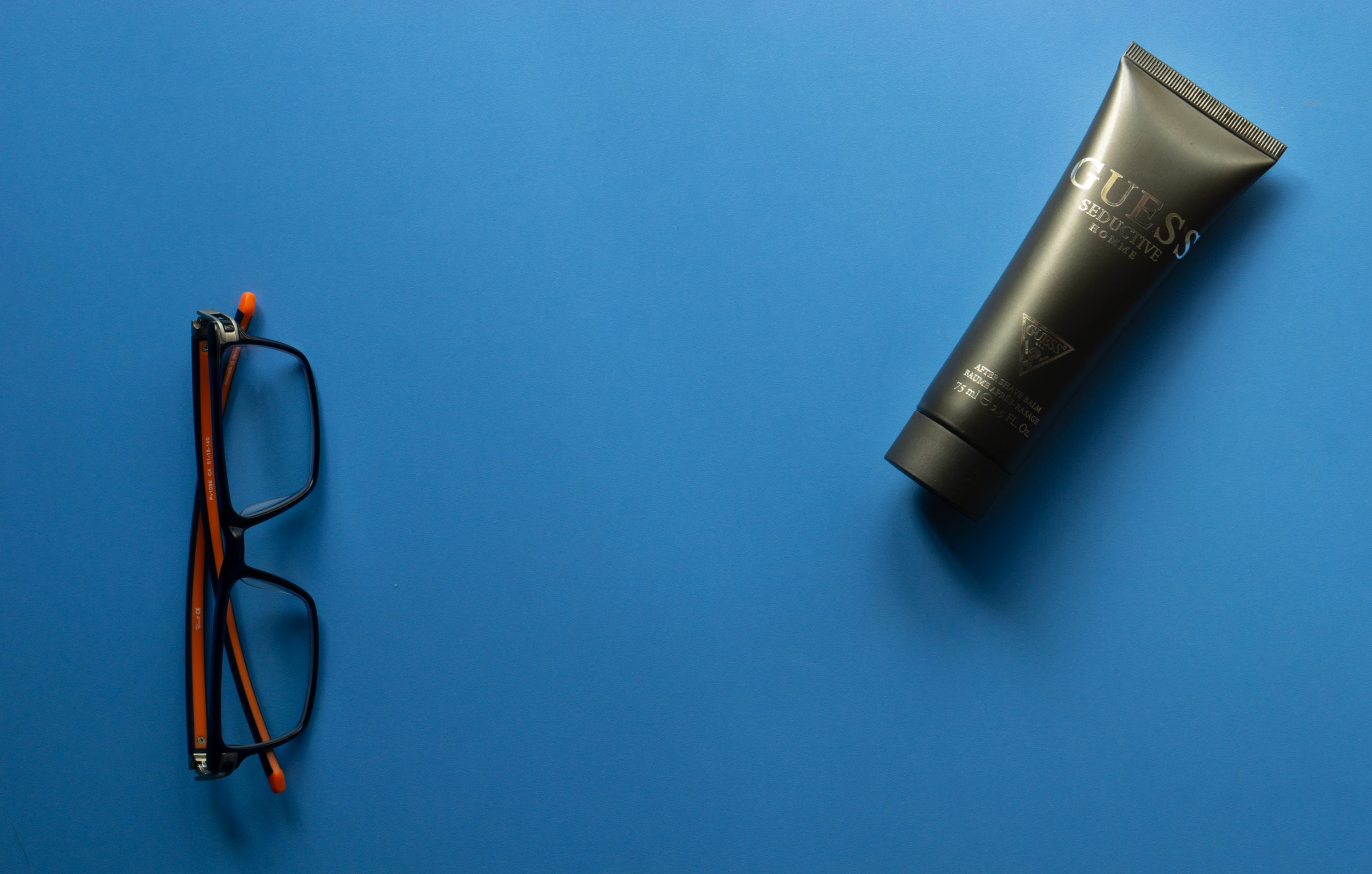 After shave balm with spectacles