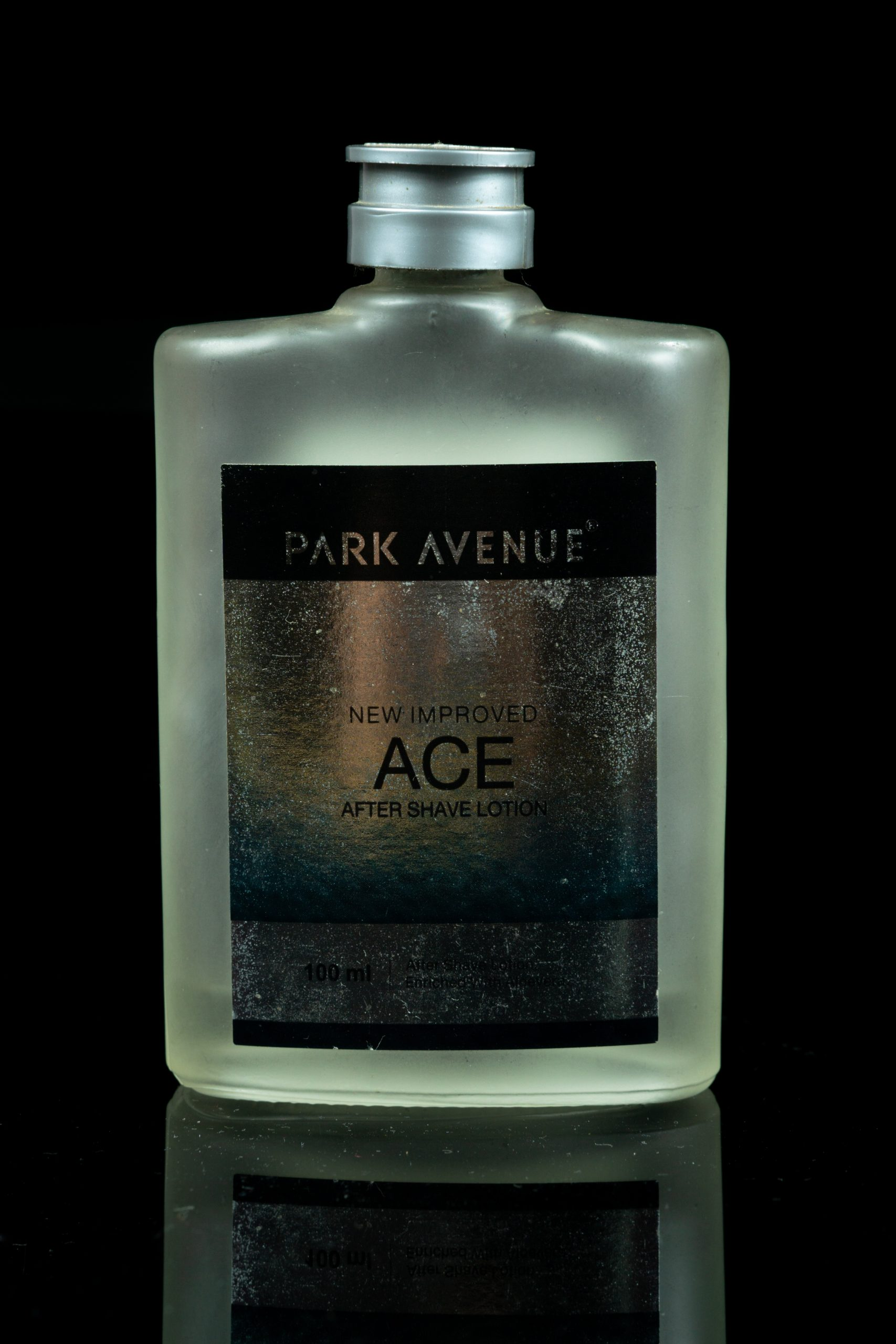 An after shave lotion bottle