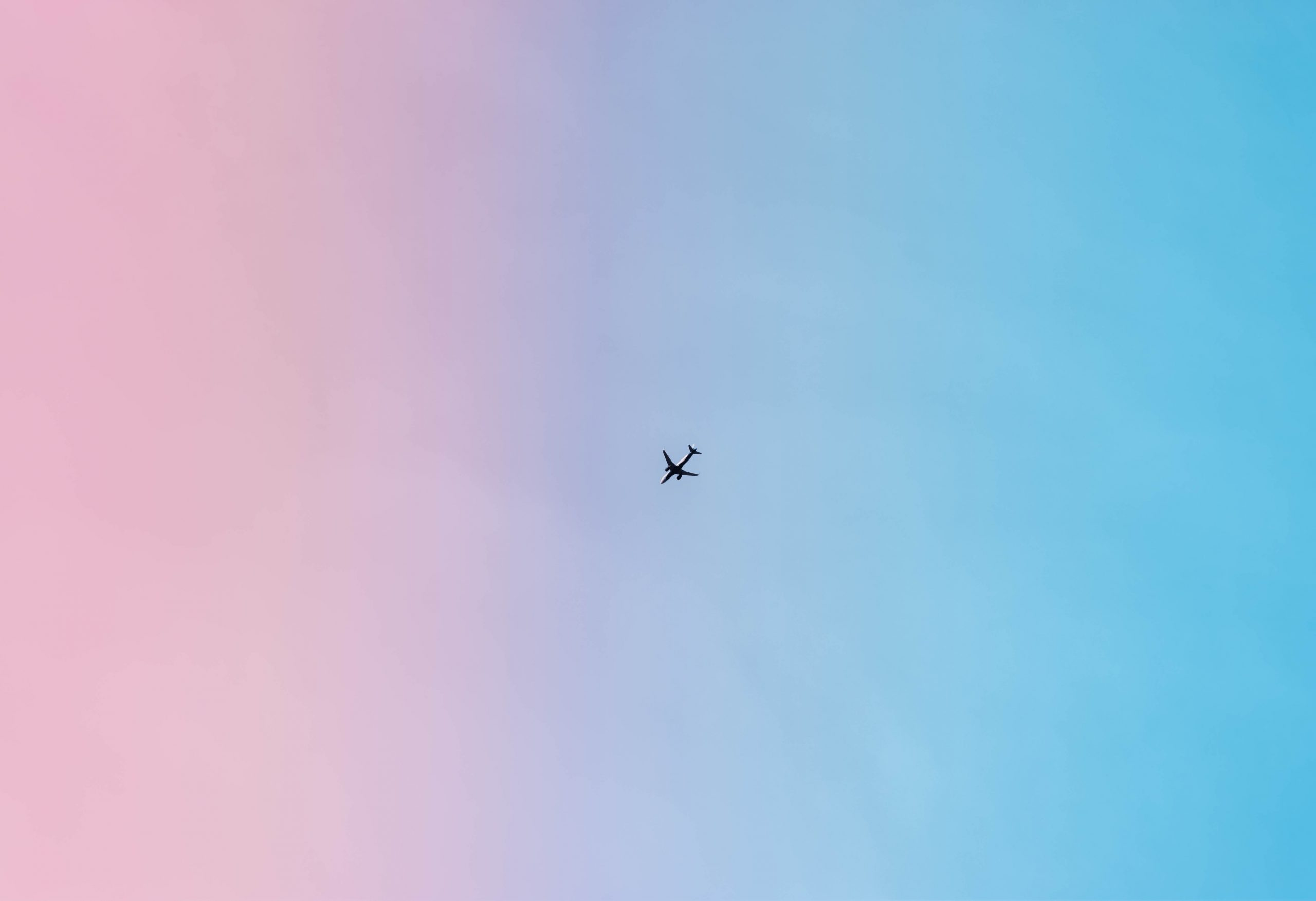 An airplane in sky