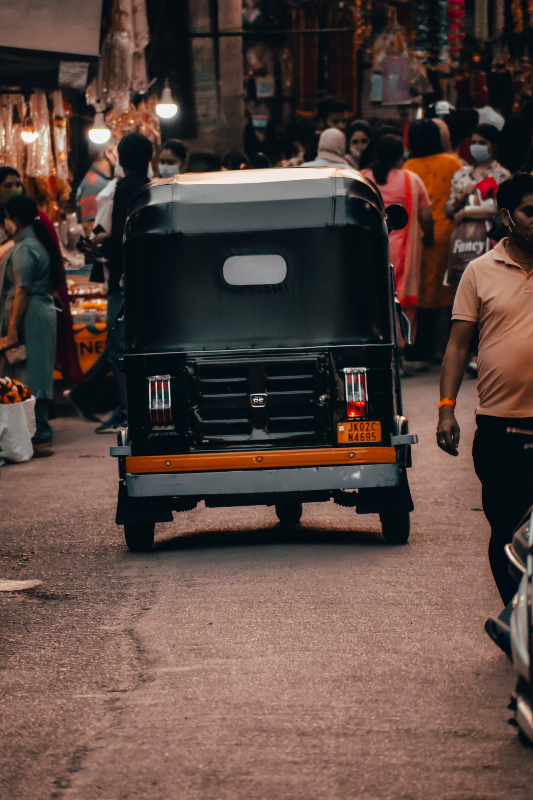 auto rickshaw on the road