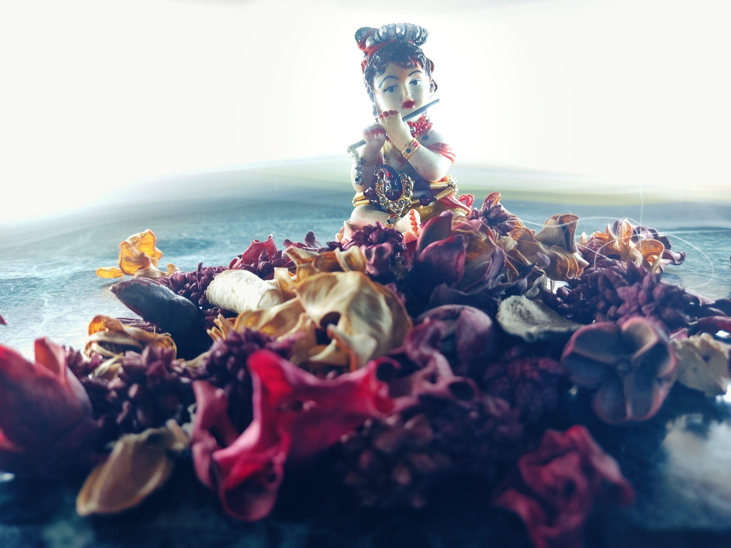An idol of lord Krishna
