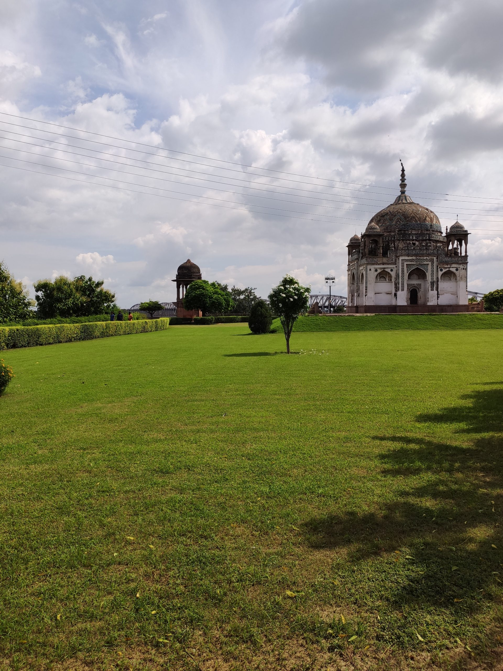 Lawn around a tomb