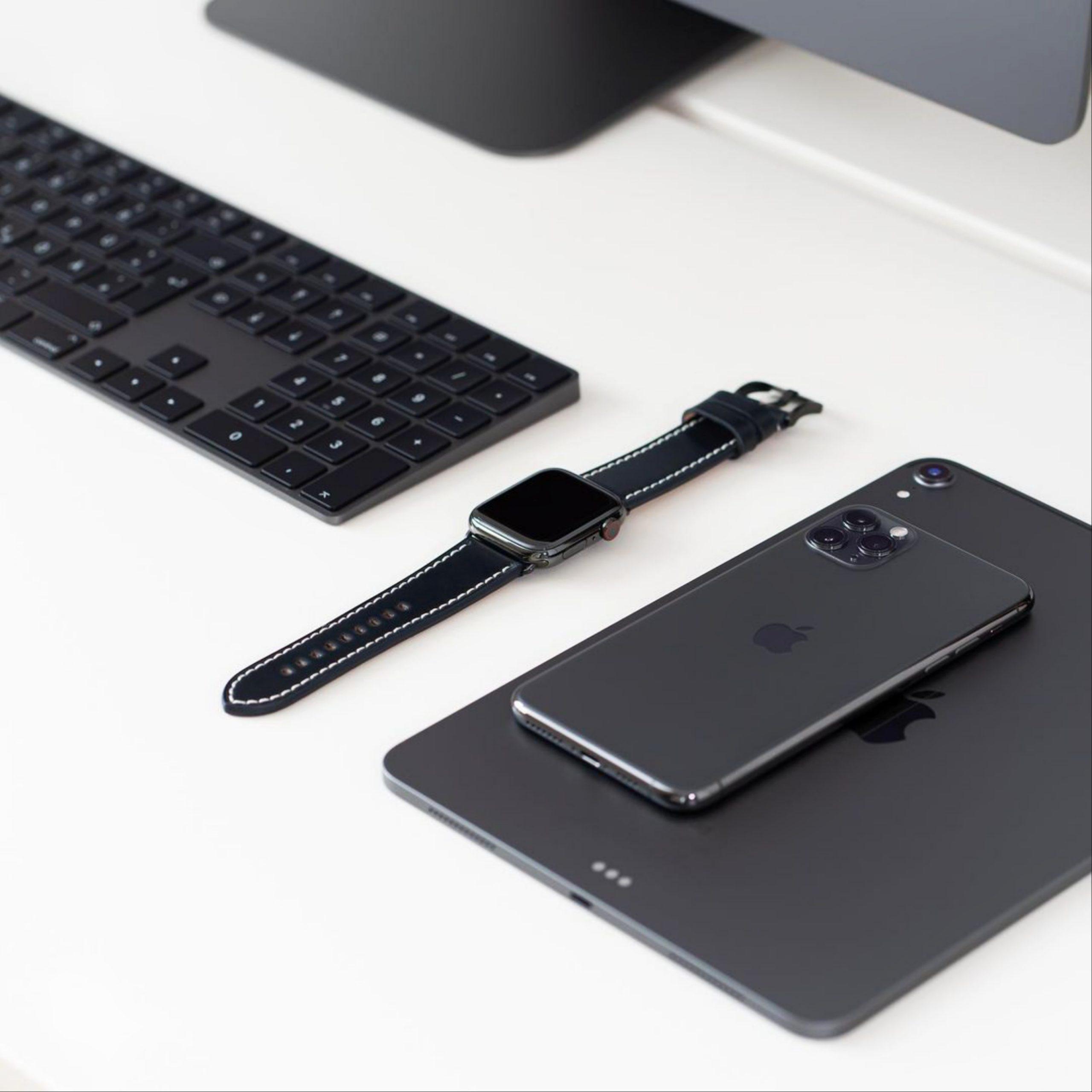 mobile, tablet, watch, keyboard