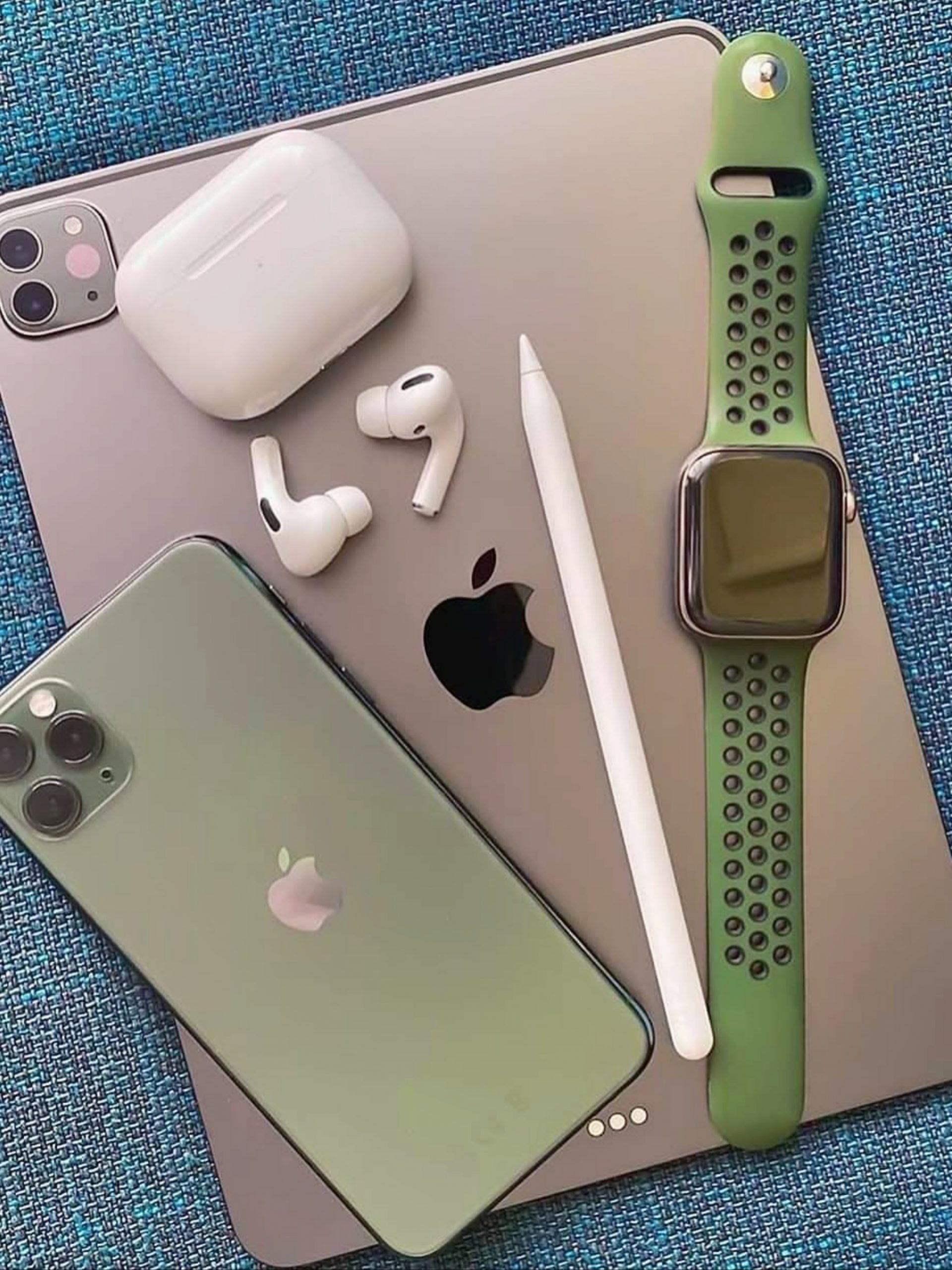 Apple company laptop and phone