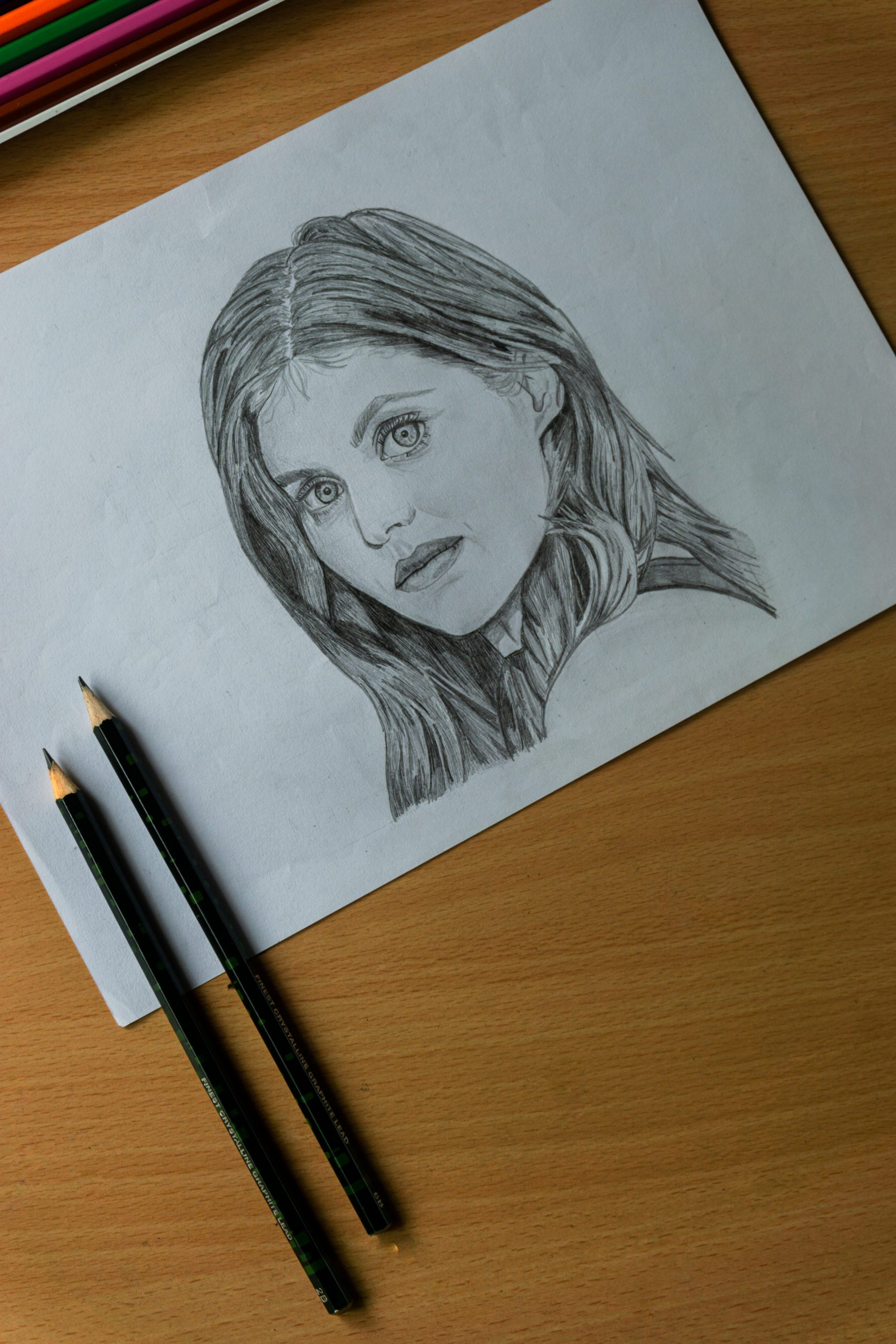 sketch of a girl