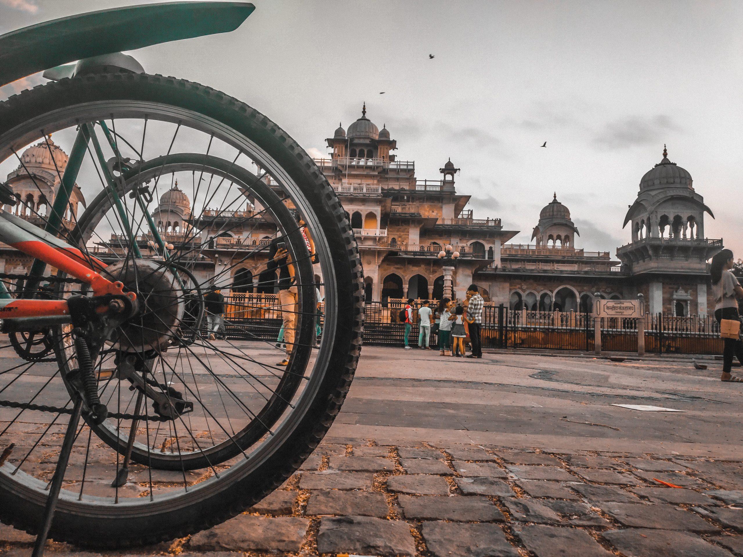 Bicycles near Albert Hall Museum