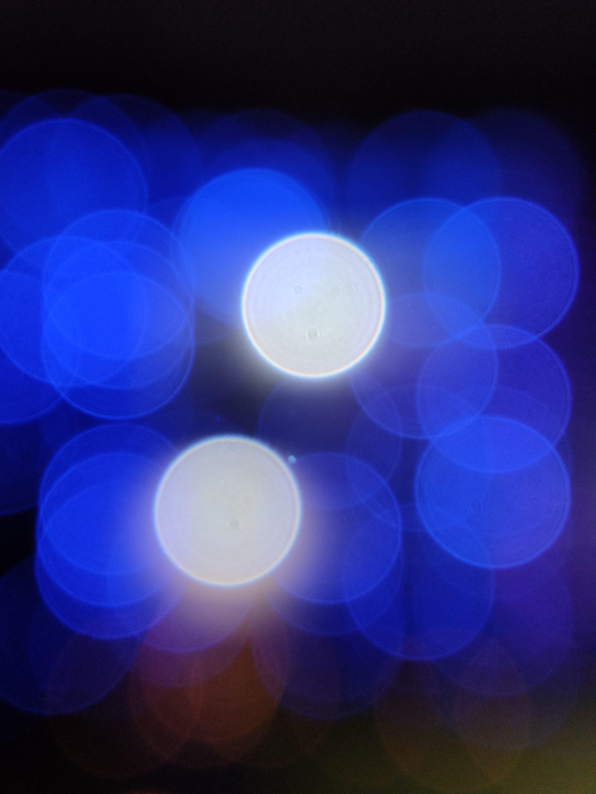 Blue light bokeh