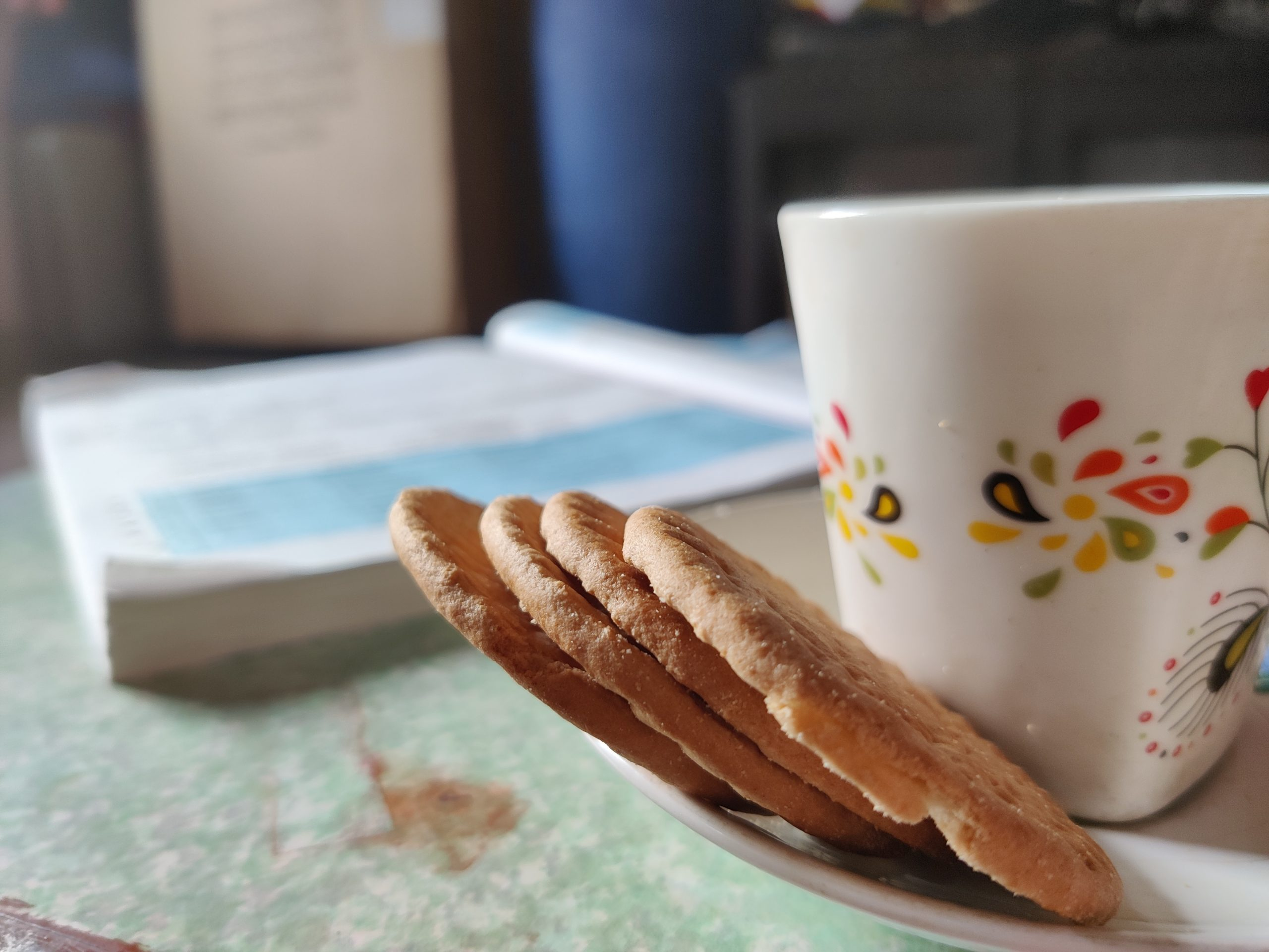 biscuits and tea cup